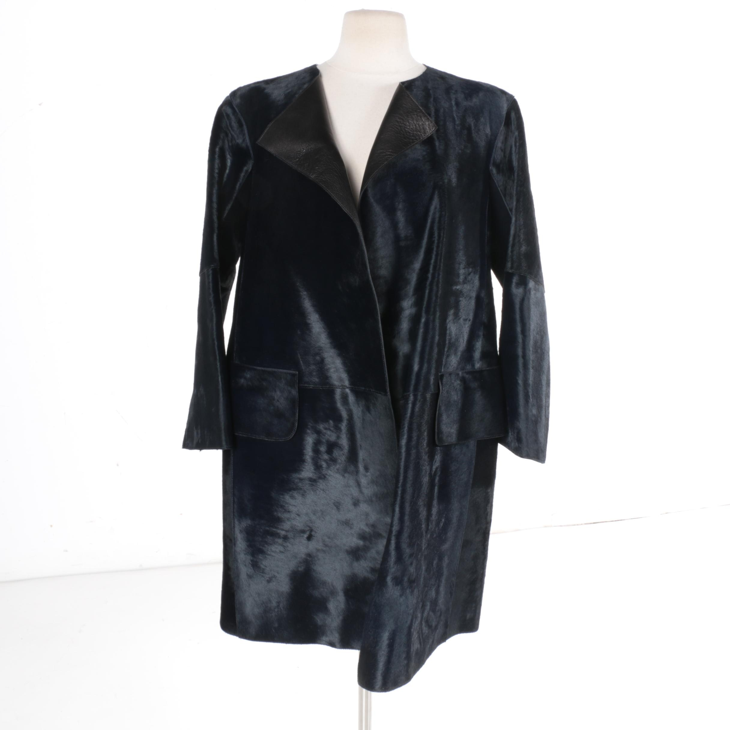Women's Jil Sander Providence Pony Hair Coat