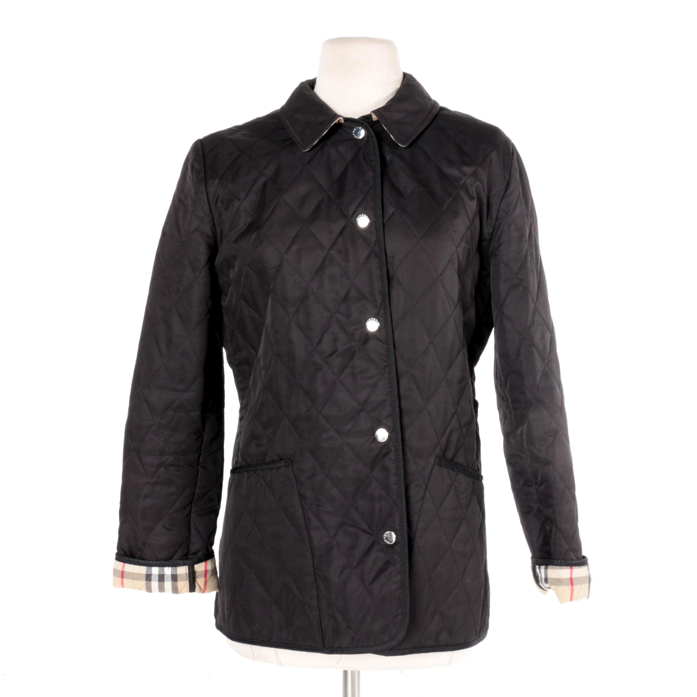 Women's Burberry London Black Quilted Jacket