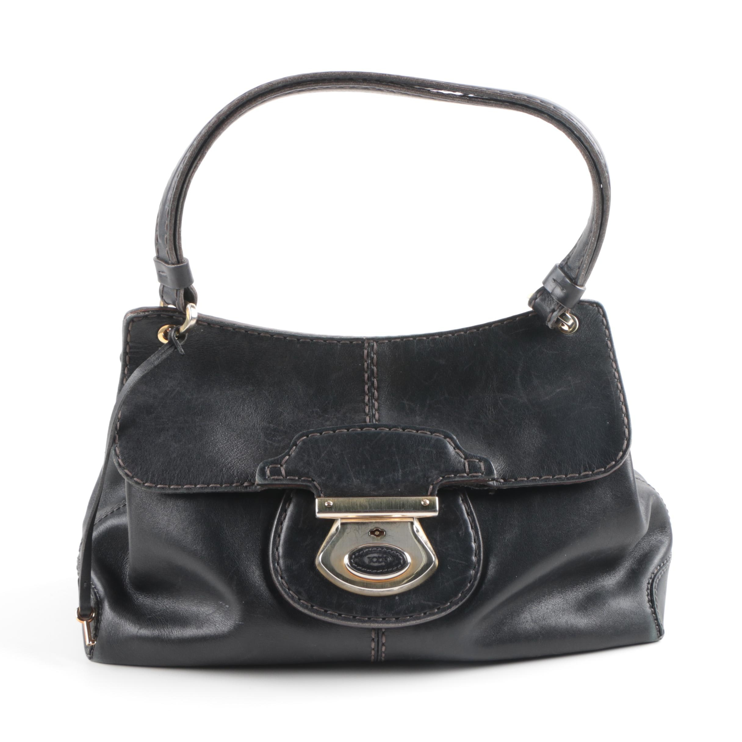 TOD'S Black Leather Handbag