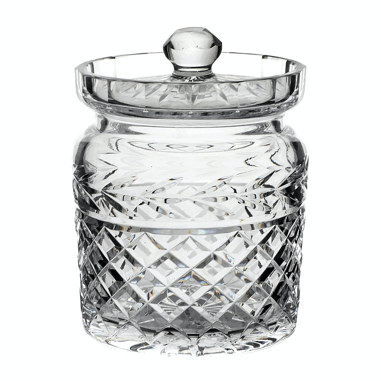 "Waterford Crystal ""Glendore"" Biscuit Barrel"