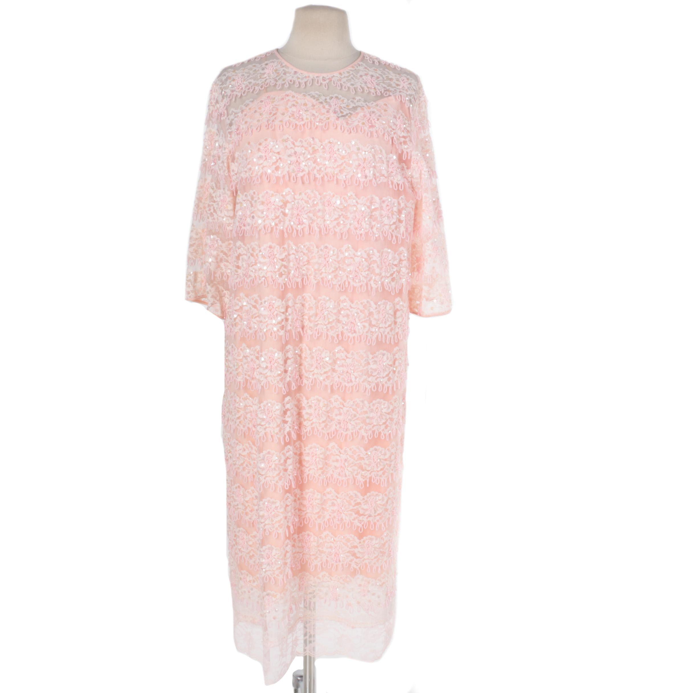Vintage Miss Elliette Beaded Lace Dress