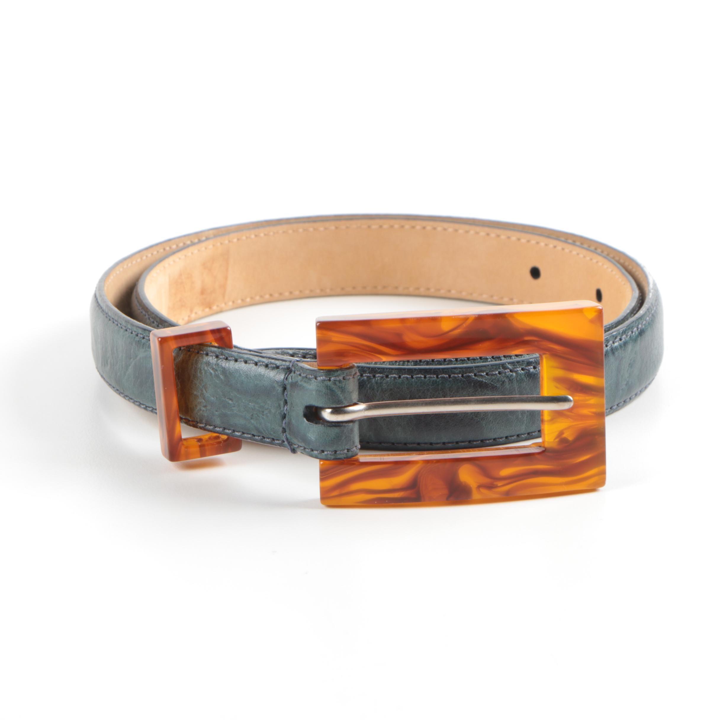 Worth Calfskin Leather Belt