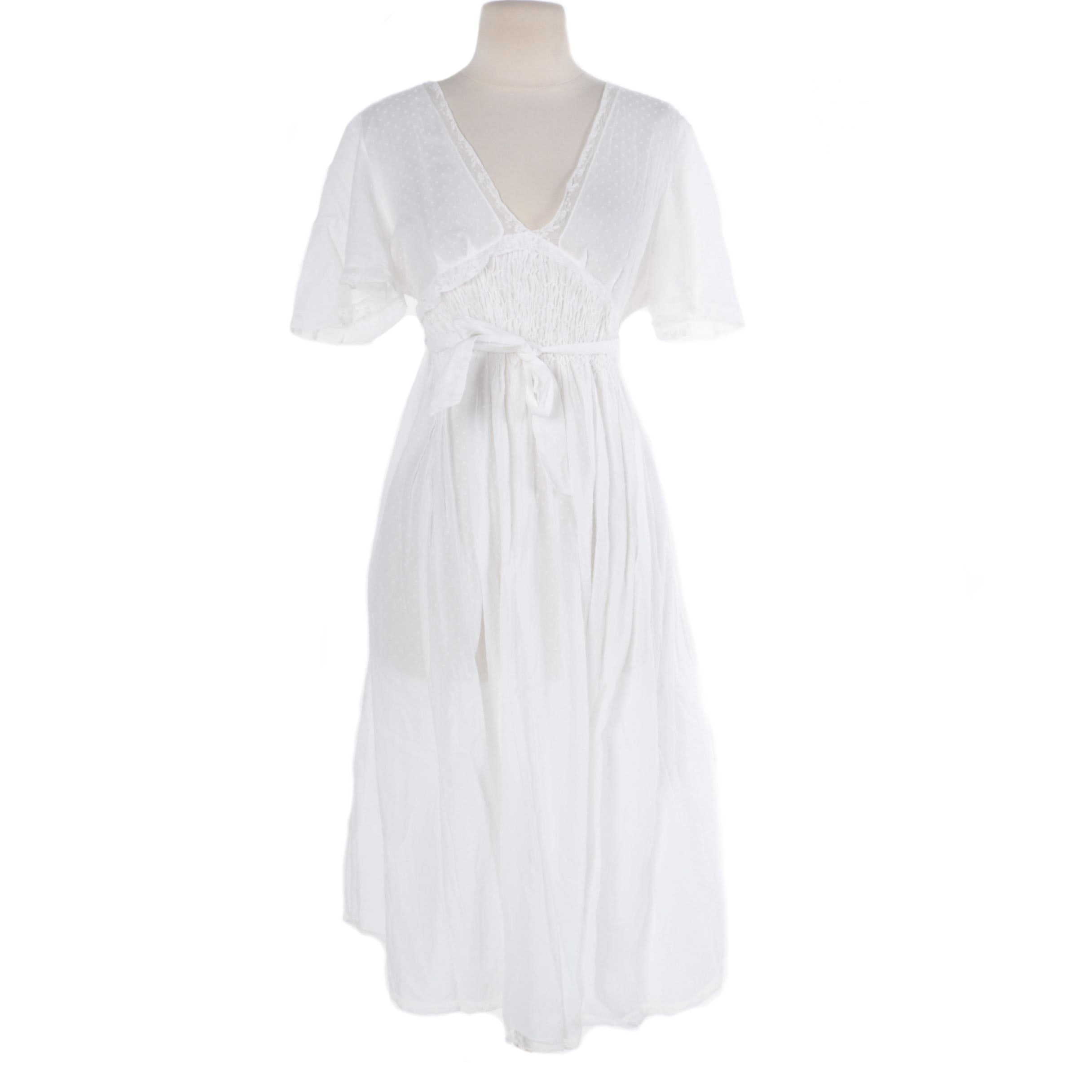 Bergdorf Goodman White Cotton Dress