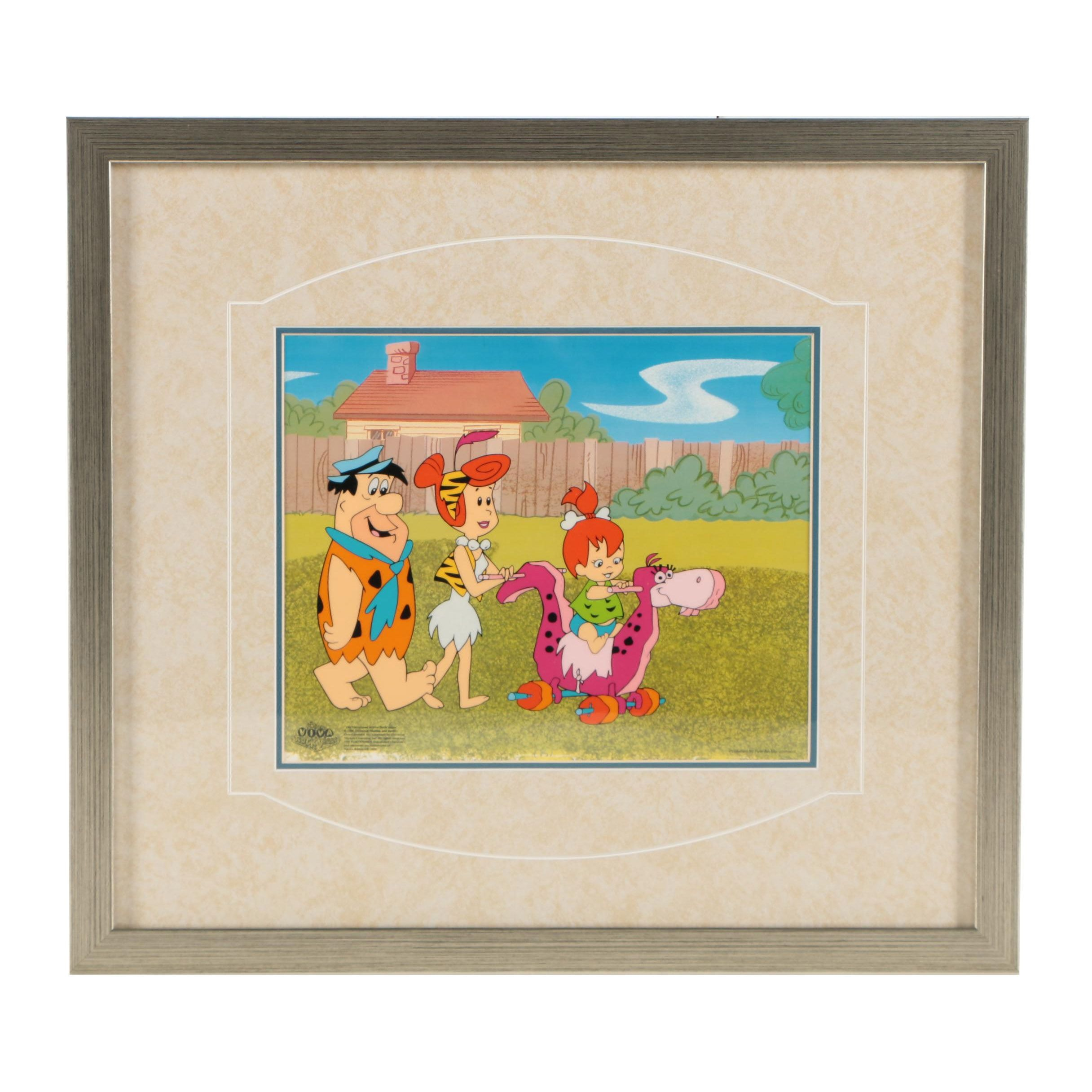 "Limited Edition Animation Cel of ""The Flintstones"""