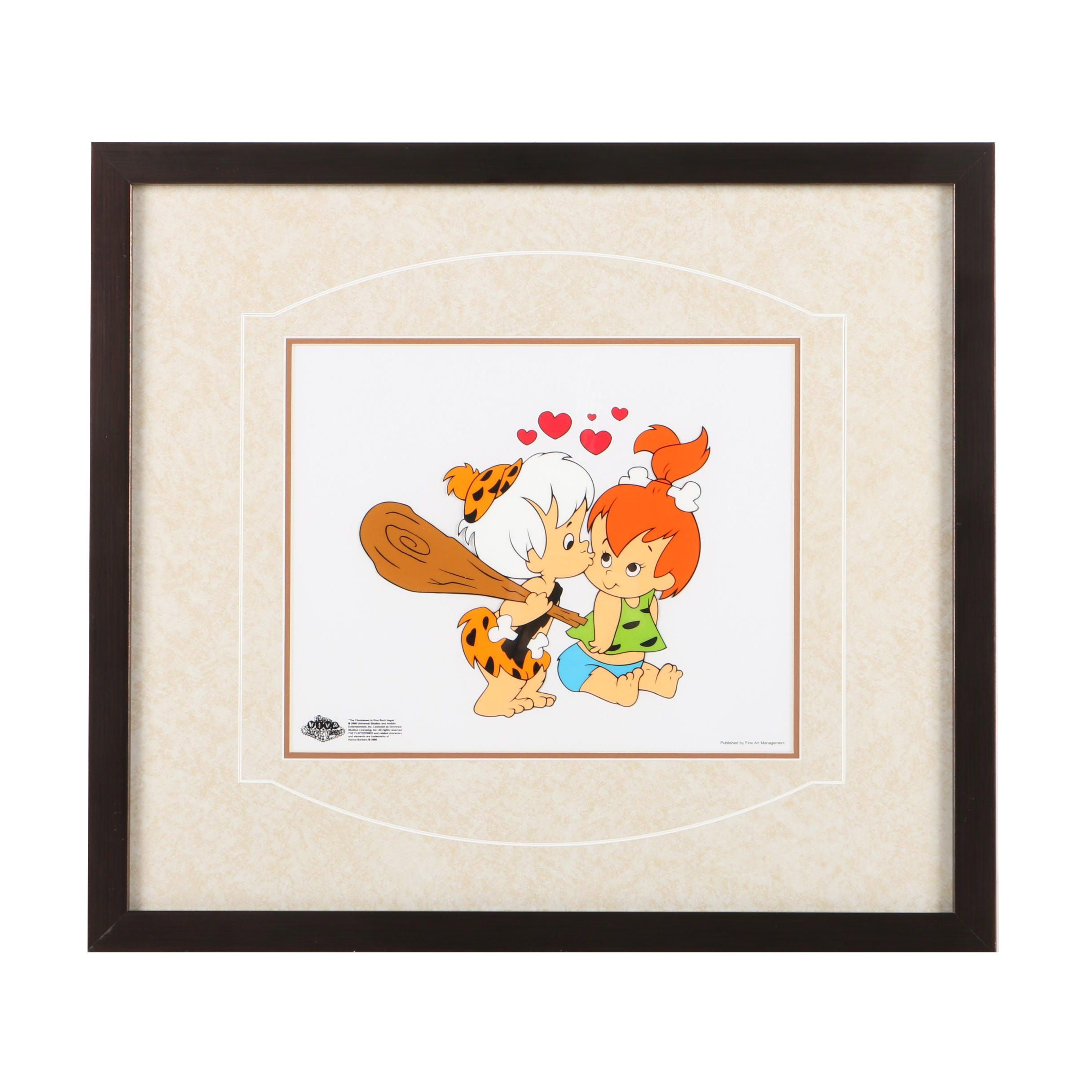"Limited Edition Animation Cel of Characters from ""The Flintstones"""