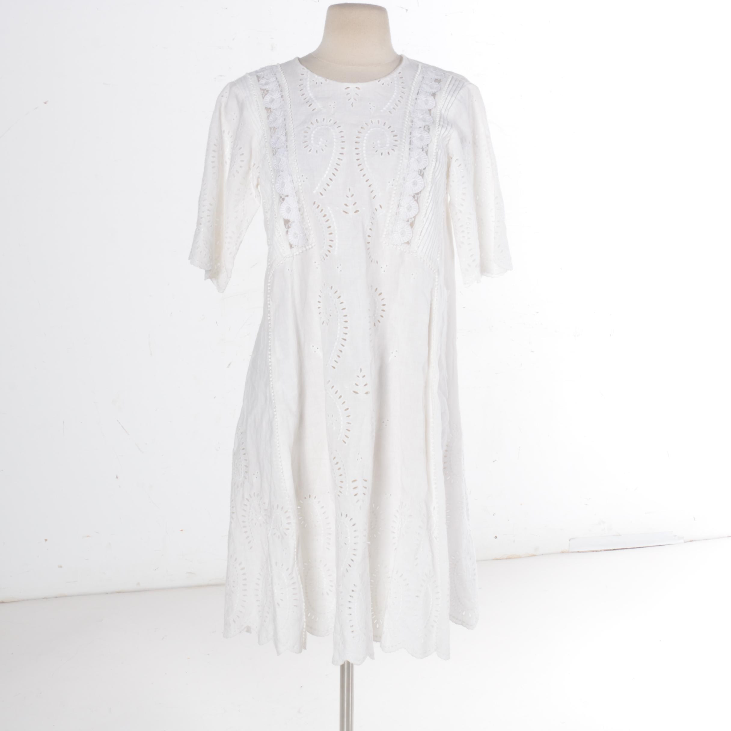 Vanessa Bruno White Linen Dress