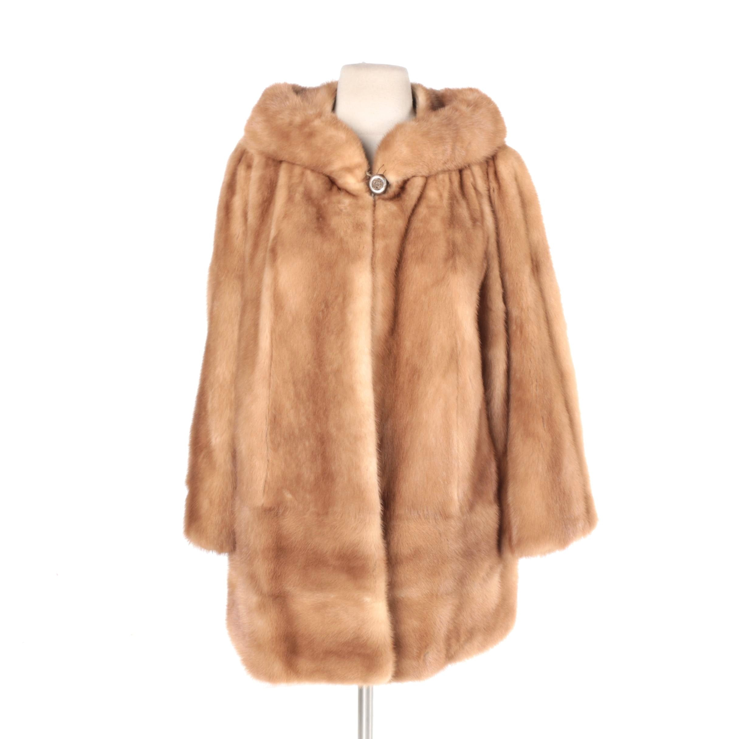 Women's Vintage Light Brown Mink Fur Coat