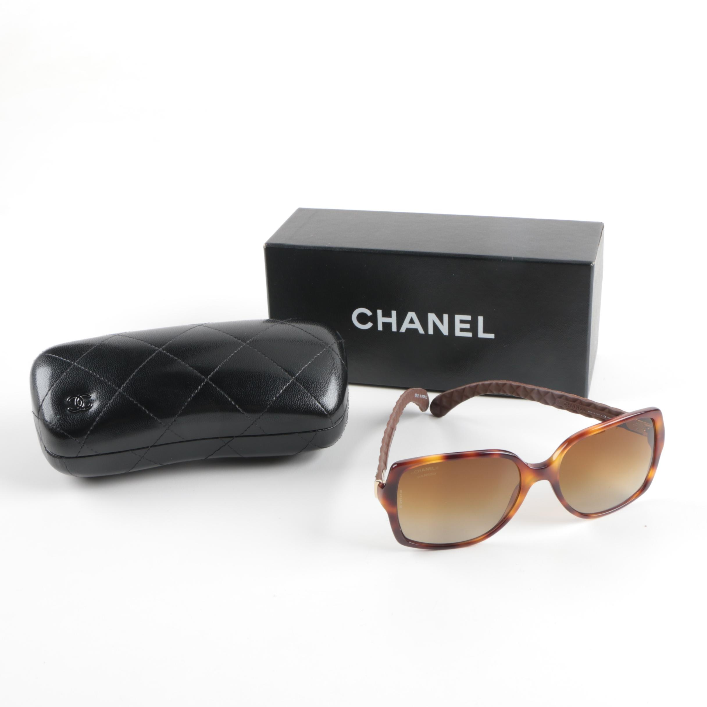 Chanel Polarizer Sample Sunglasses with Accessories