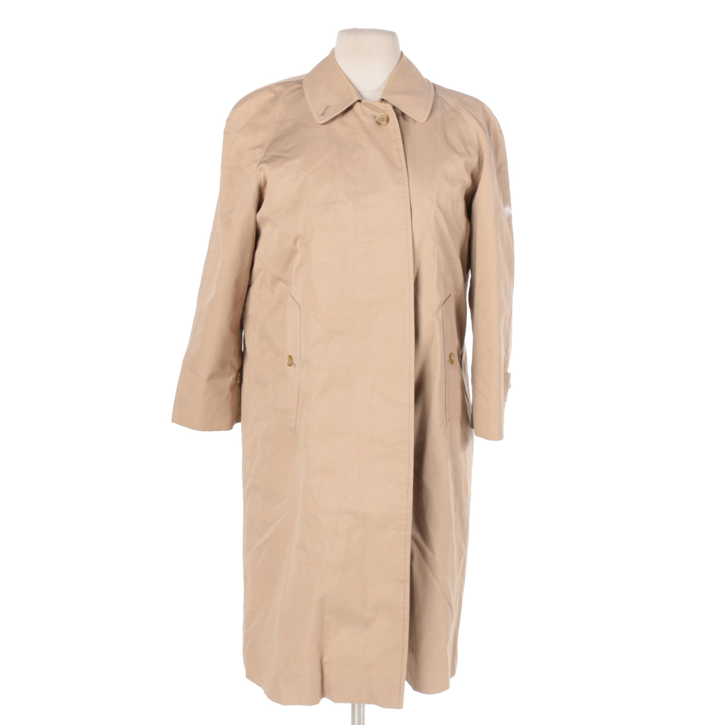 Women's Vintage Burberry Coat with Removable Liner