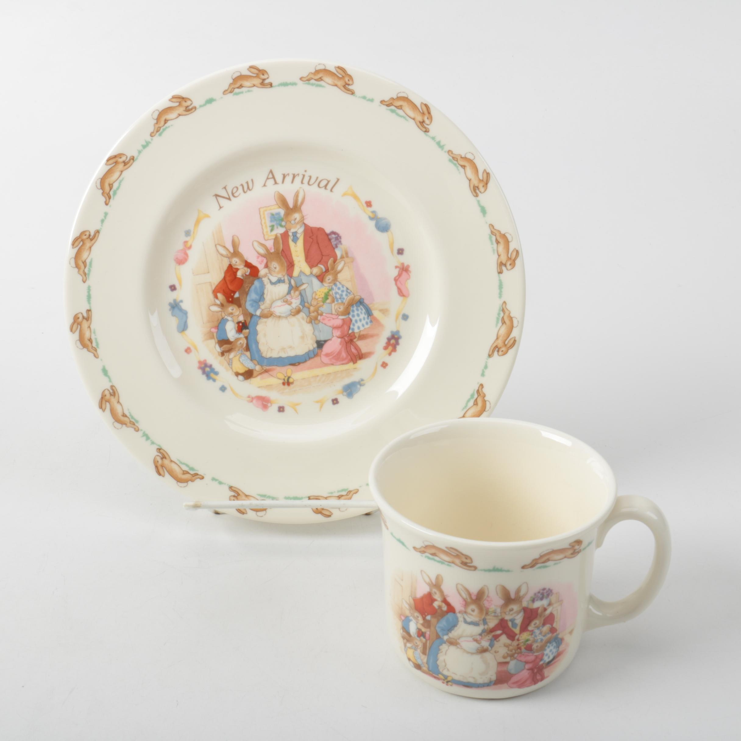 """Royal Doulton """"Bunnykins"""" Plate and Cup"""