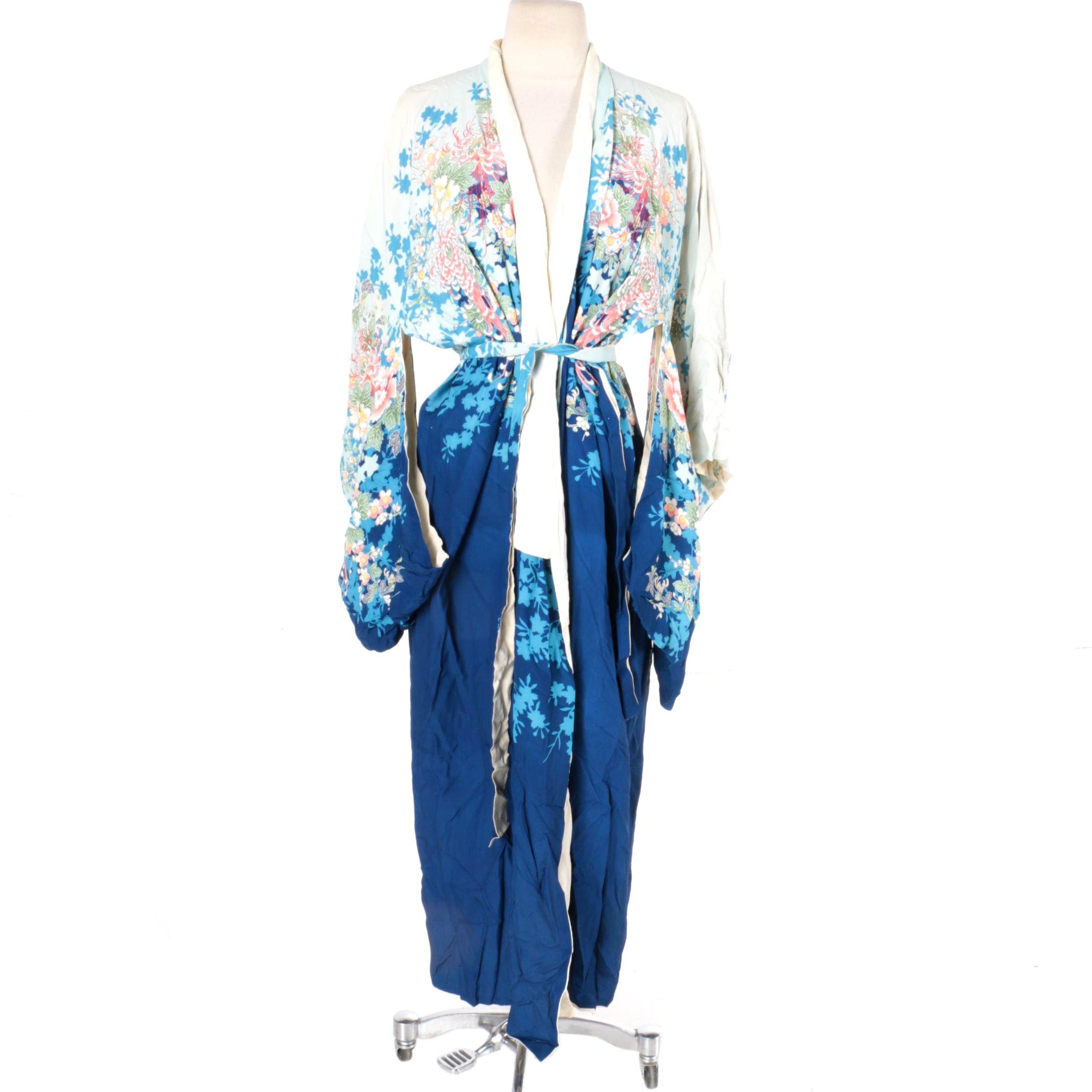Vintage Japanese Kimono Style Robe