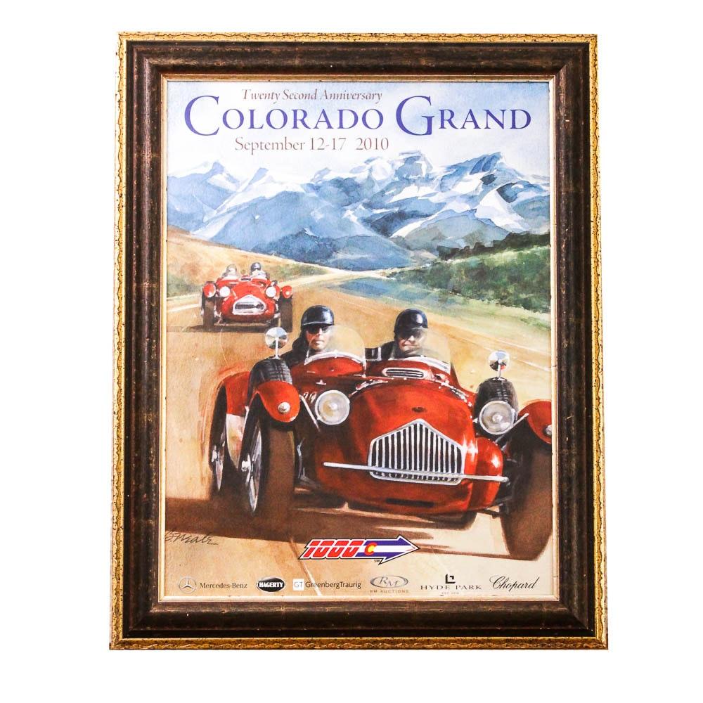 Framed Colorado Grand Racing Advertisement