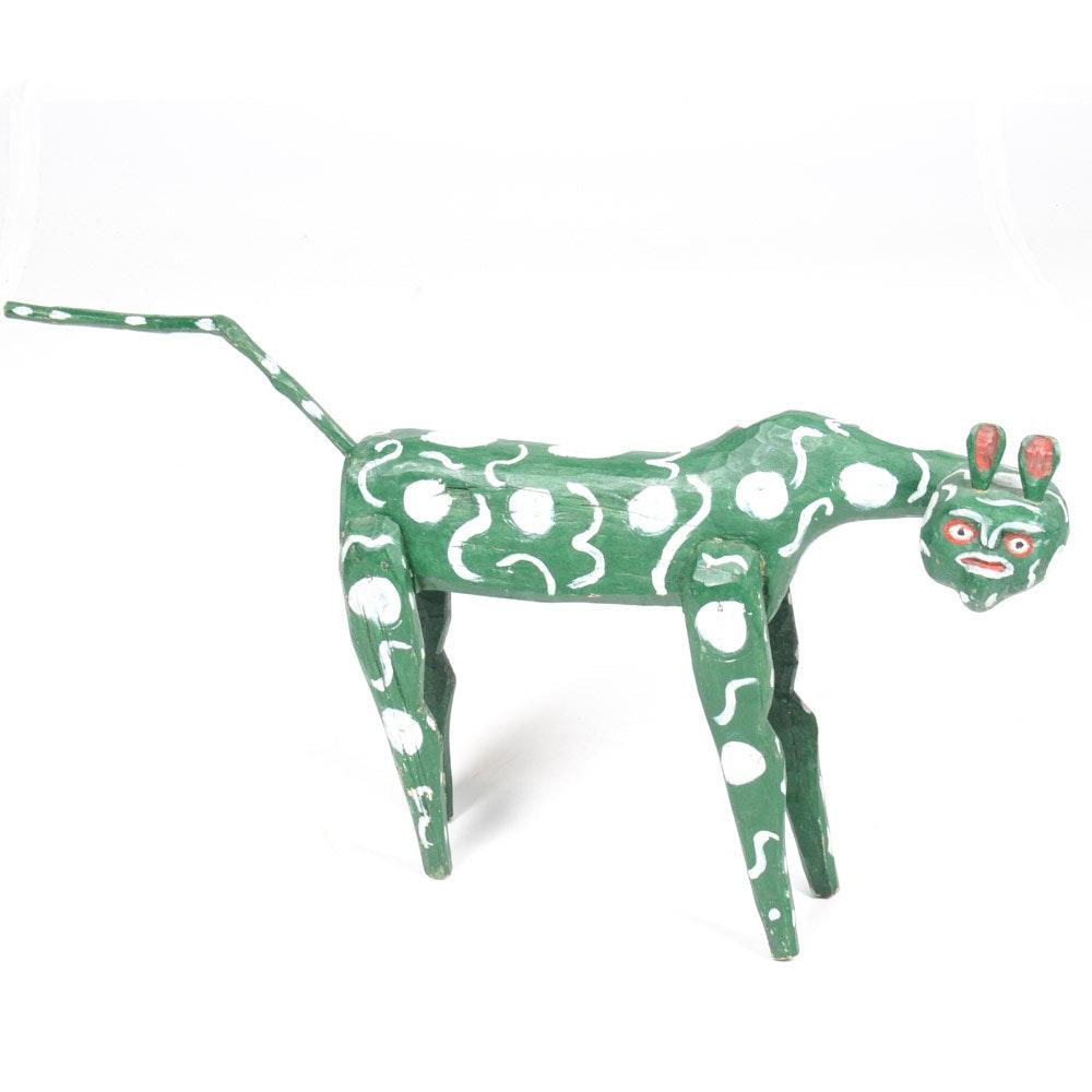 Hand-Carved and Painted Alebrijes Folk Art Animal Figural