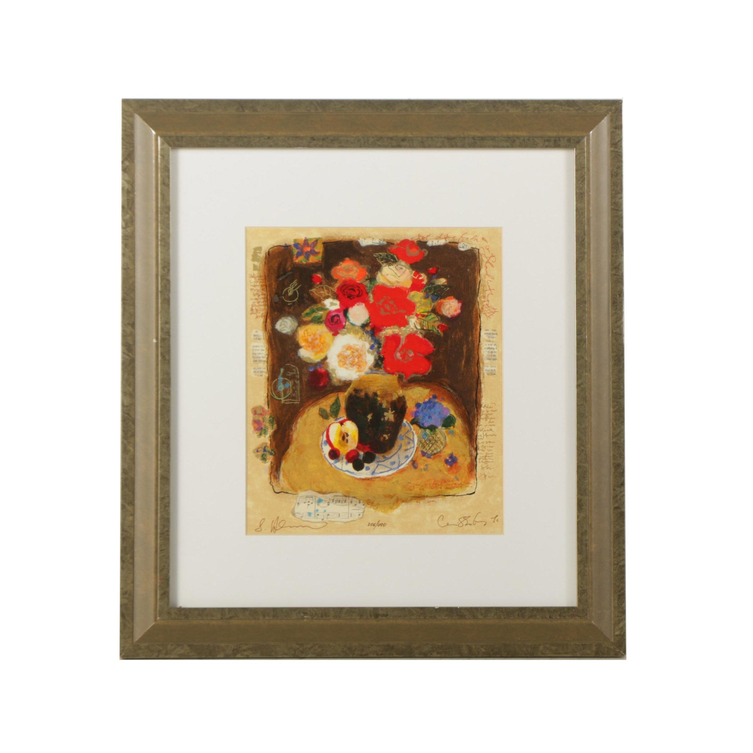 """Wizzotsky & Galtchansky Limited Edition Serigraph """"With All My Heart"""""""