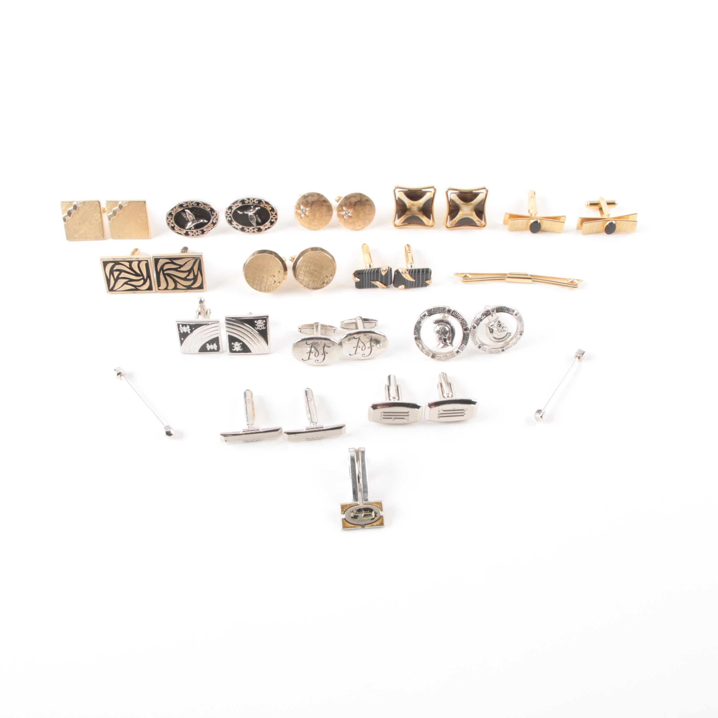 Collection of Cufflinks and Other Accessories