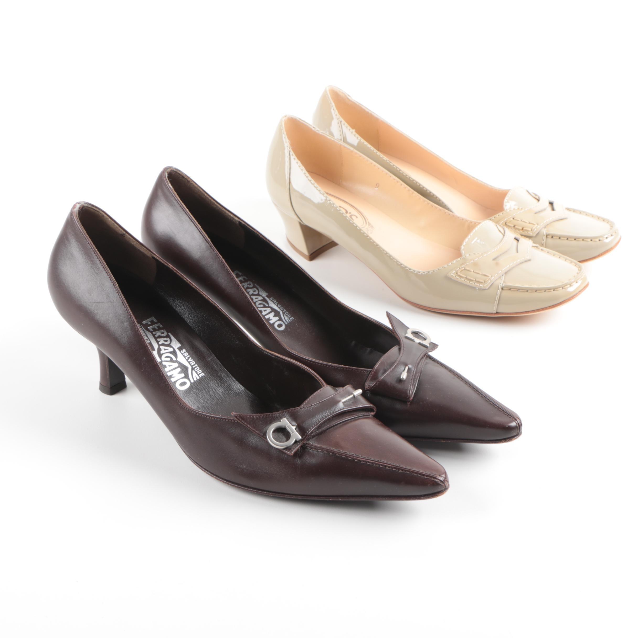 Women's TOD'S and Salvatore Ferragamo Heels