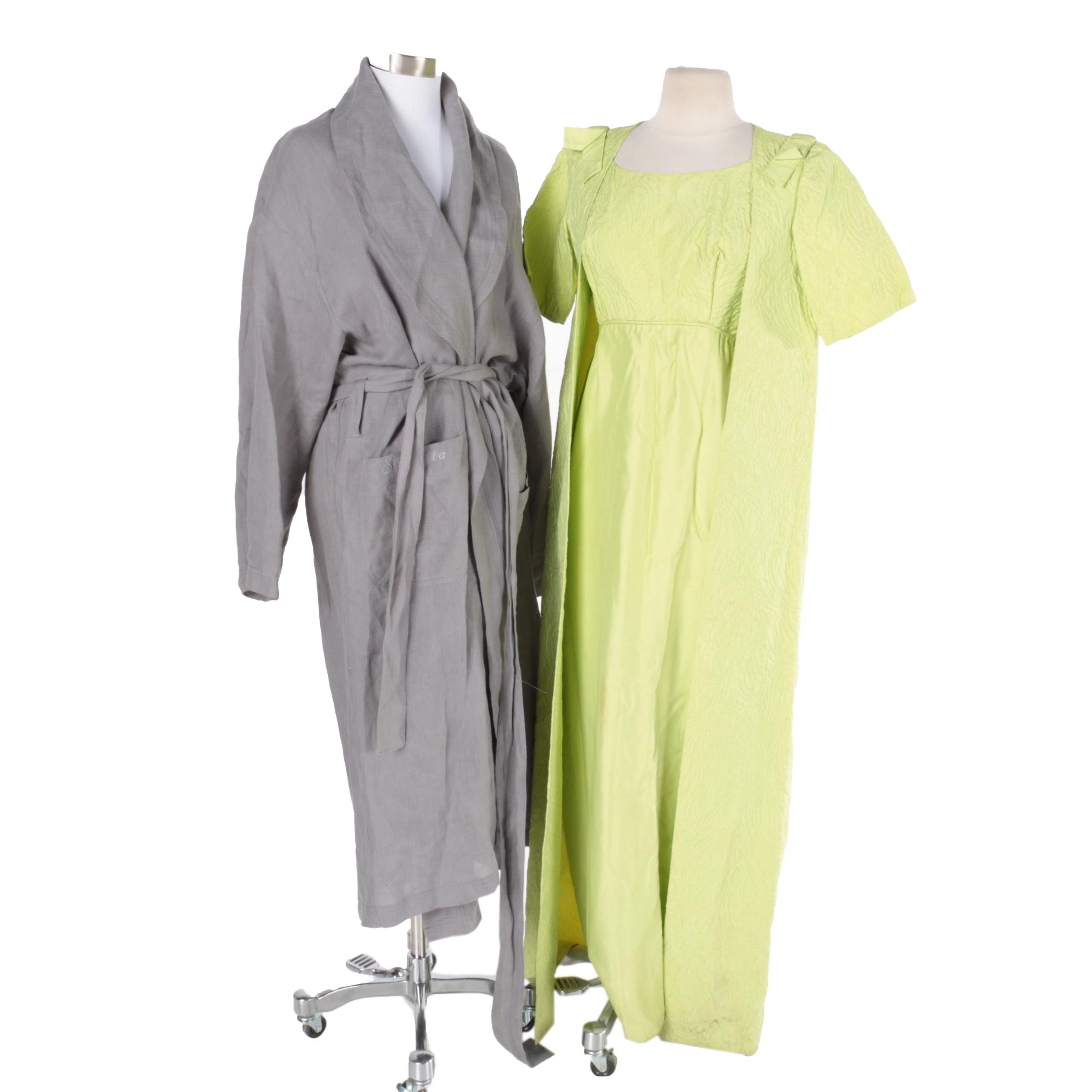 Vintage Sleeveless Dress with Matching Jacket and Spa Robe