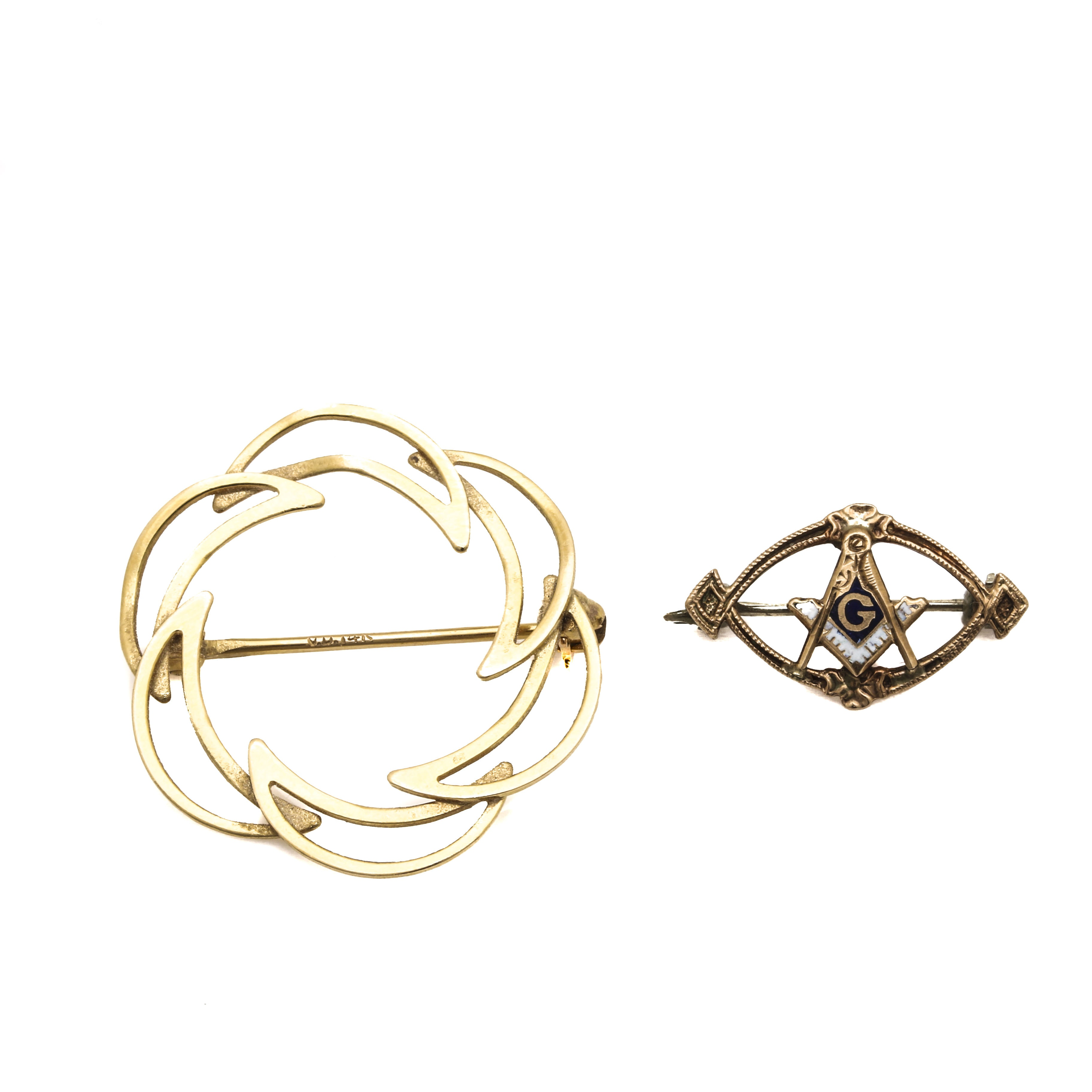 14K and 10K Yellow Gold Pins