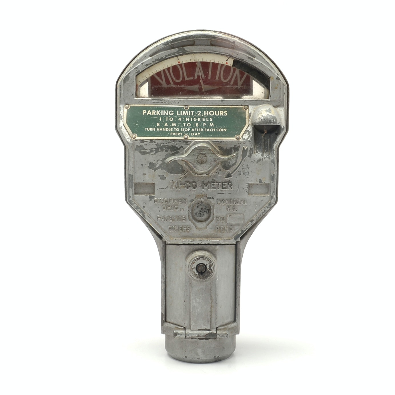 Vintage Covington Kentucky Built Metal Parking Meter