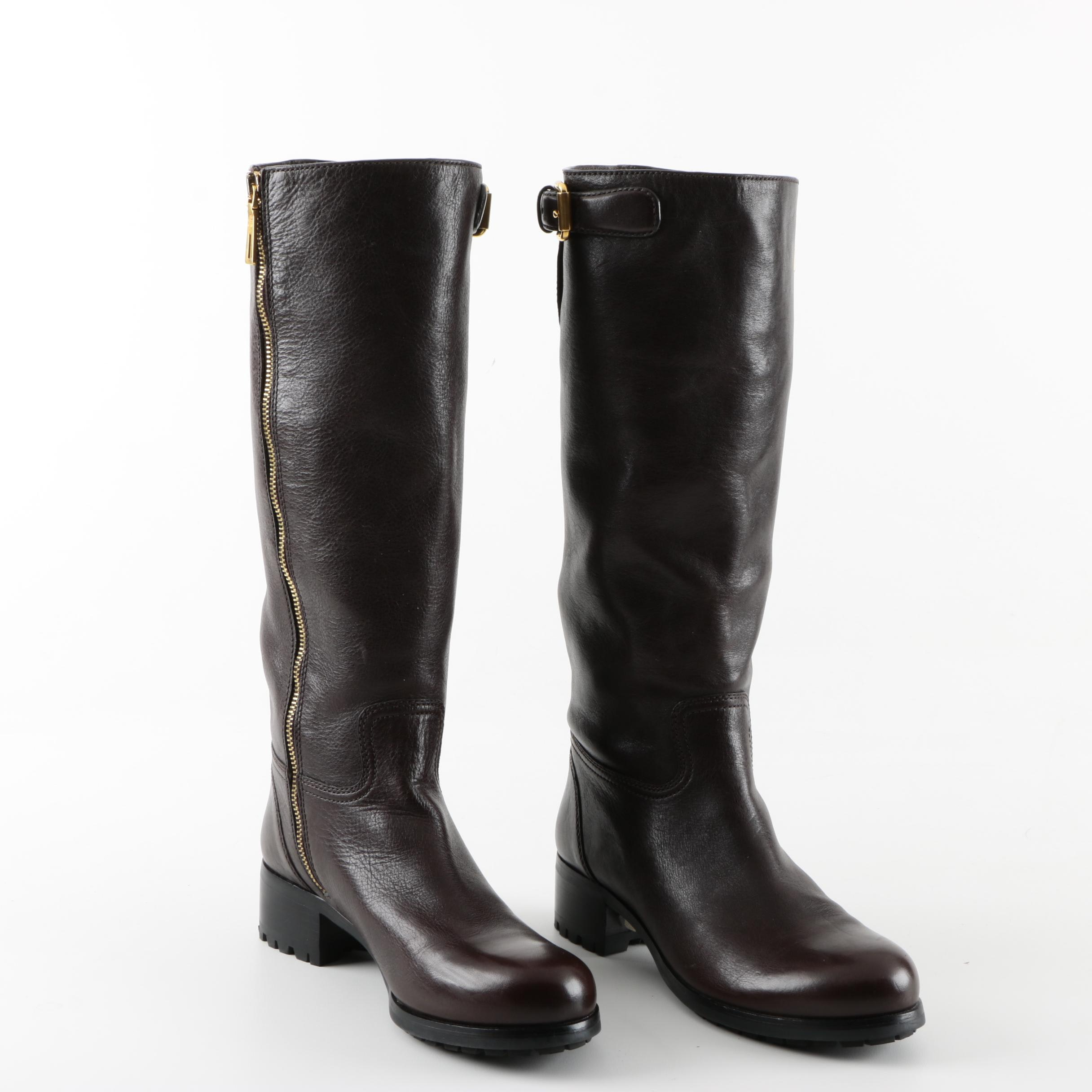 Women's Prada Brown Leather Boots