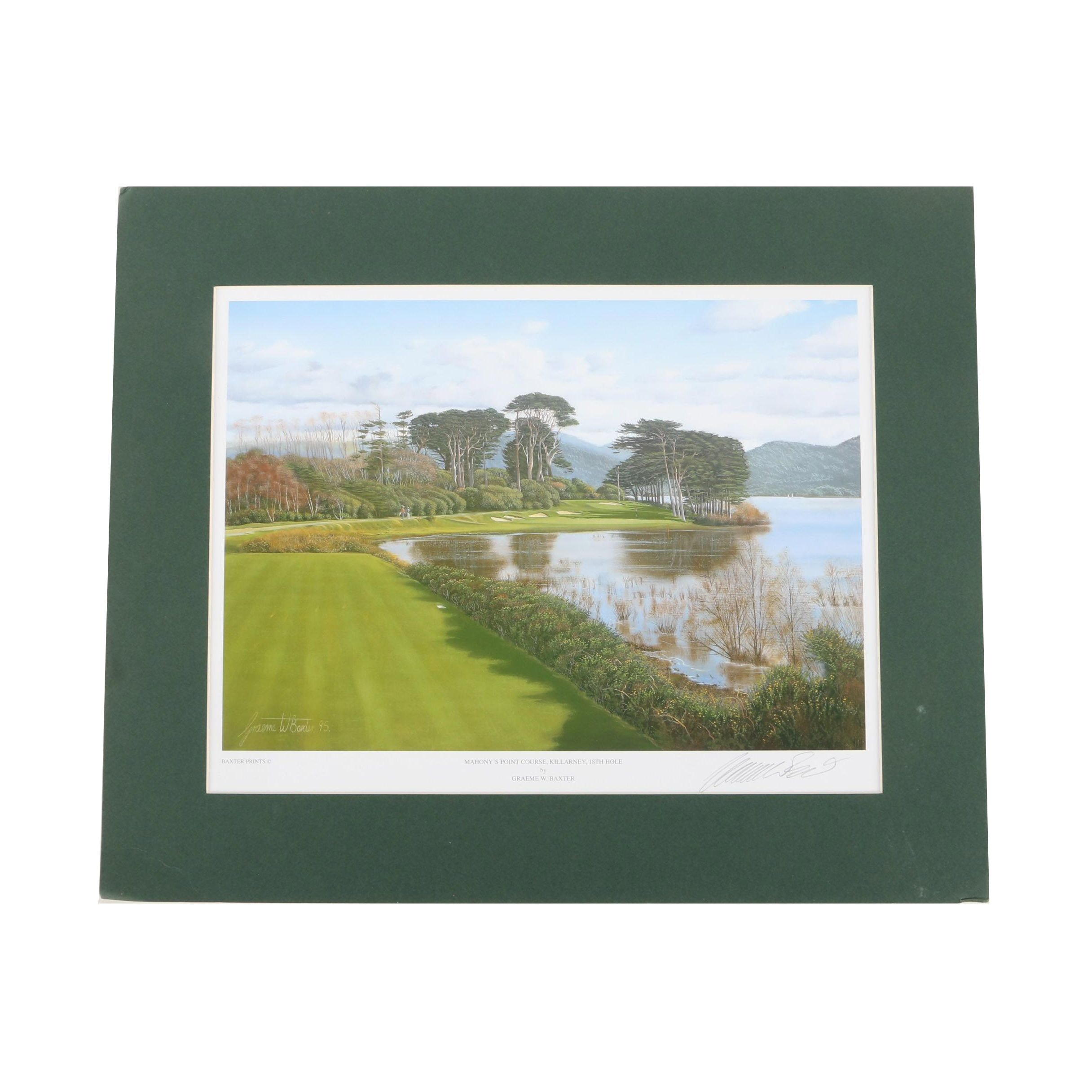 """Graeme W. Baxter Offset Lithograph on Paper """"Mahony's Point Course, Killarney"""""""