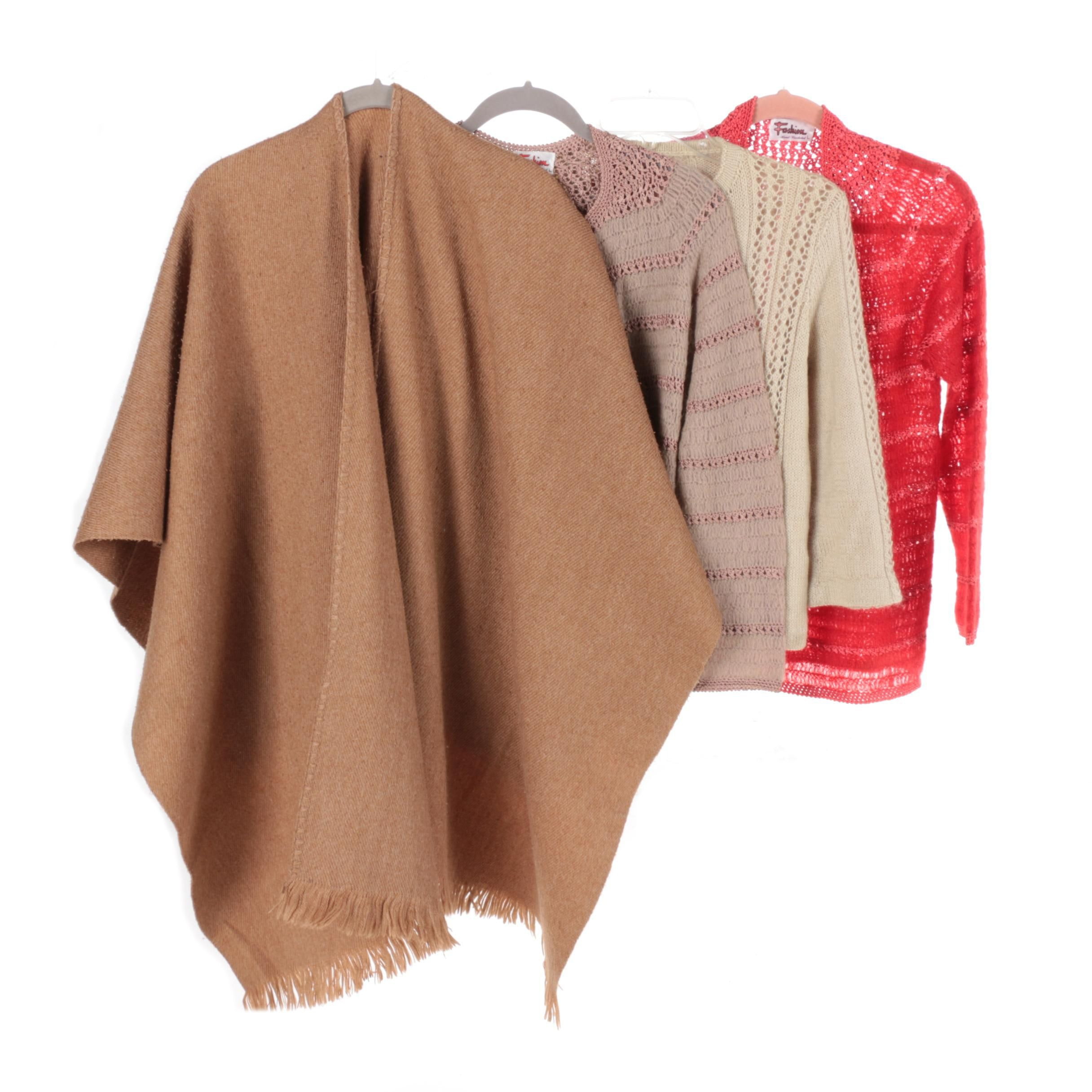 Women's Crochet and Knit Sweaters and Wrap