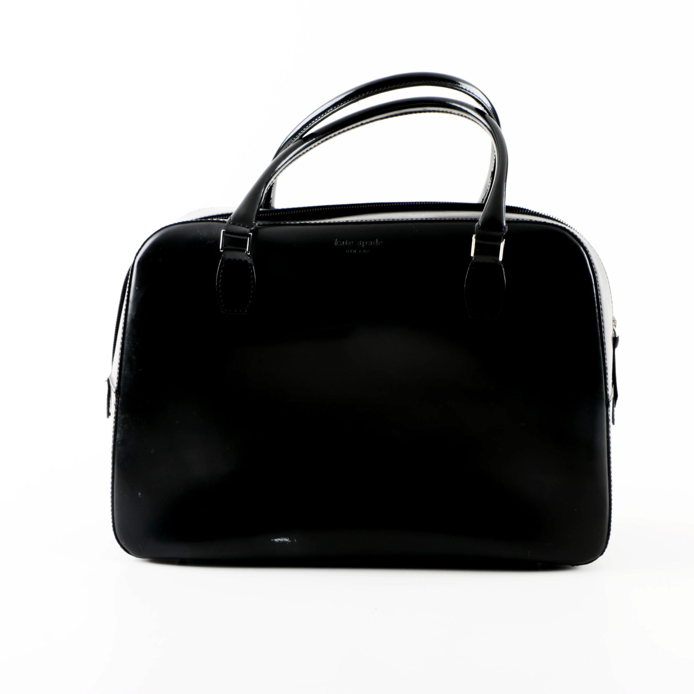 Kate Spade Pressed Black Leather Satchel
