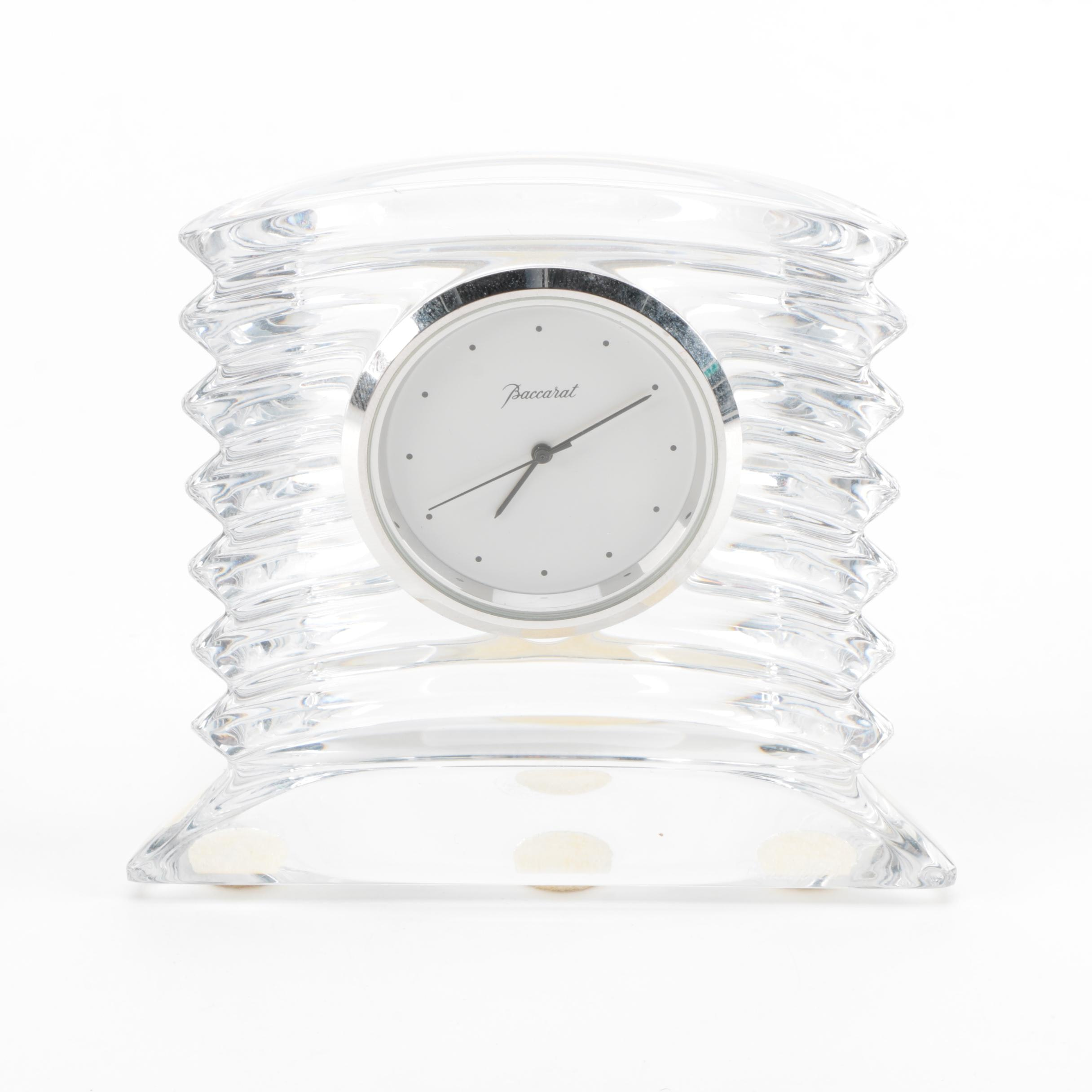 Baccarat Crystal Desk Clock