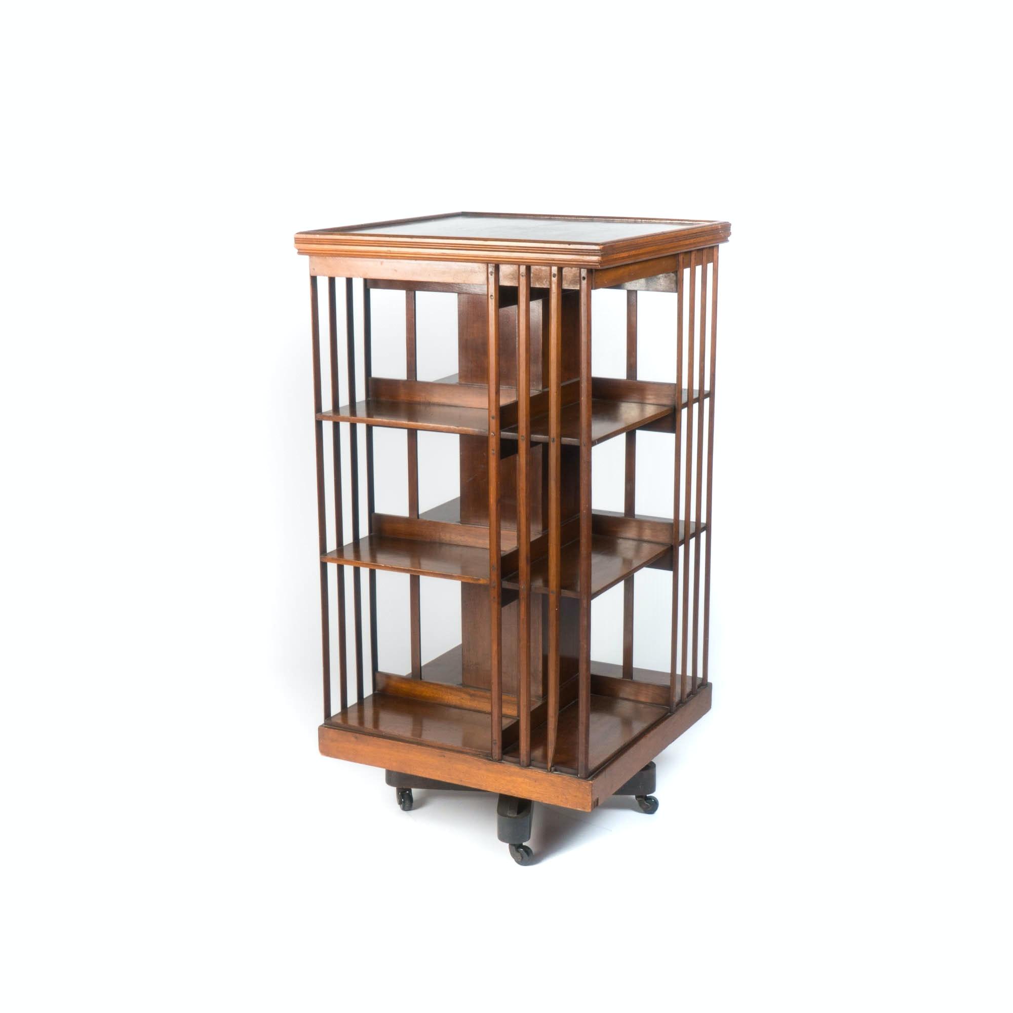 Circa 1900 English Revolving Bookcase
