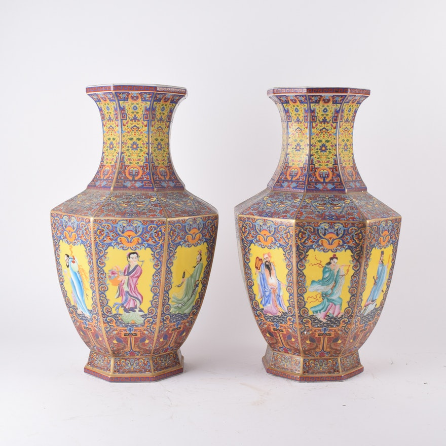 Chinese Ceramic vases with Figural Images