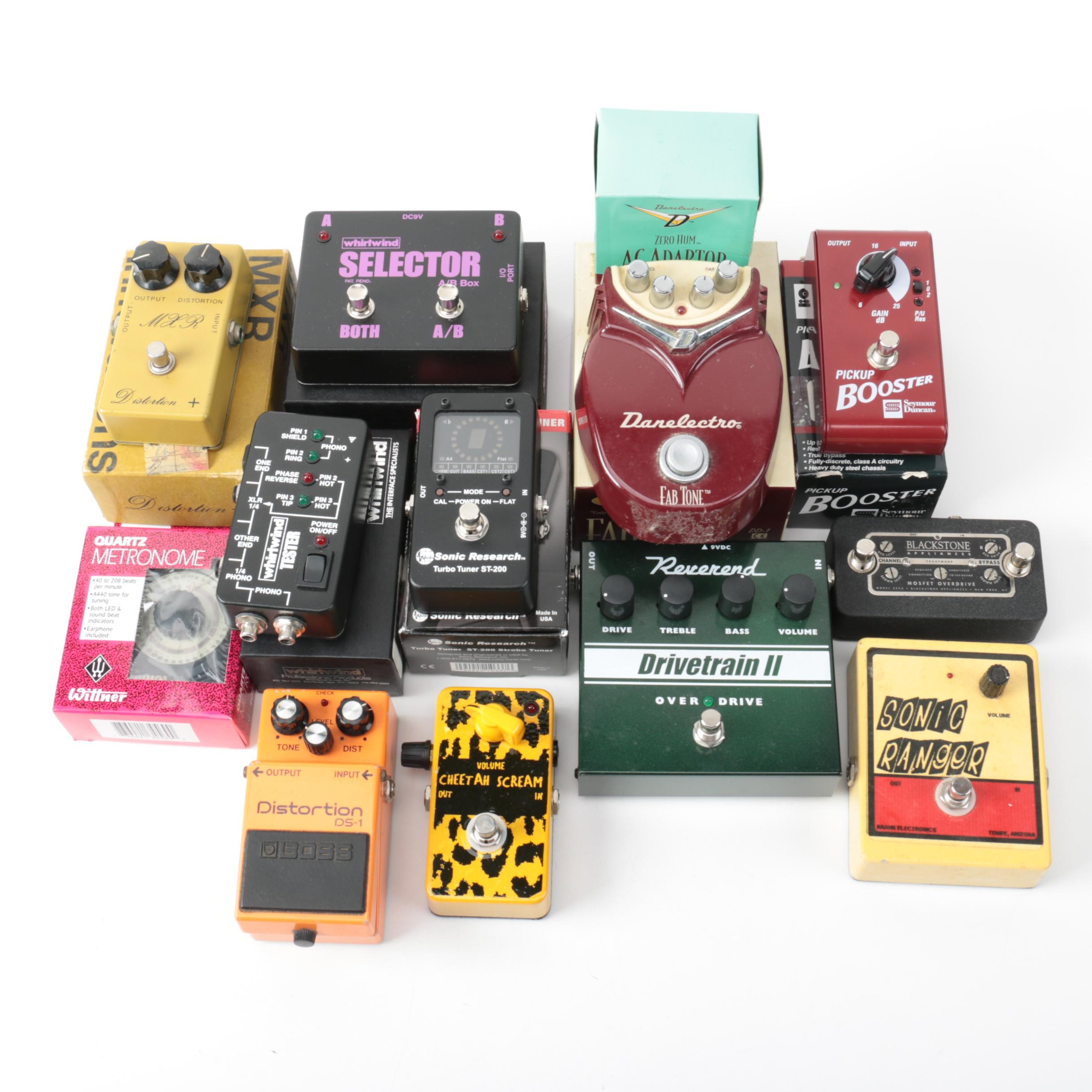 Boss, MXR, Boutique and Other Guitar Effects Pedals