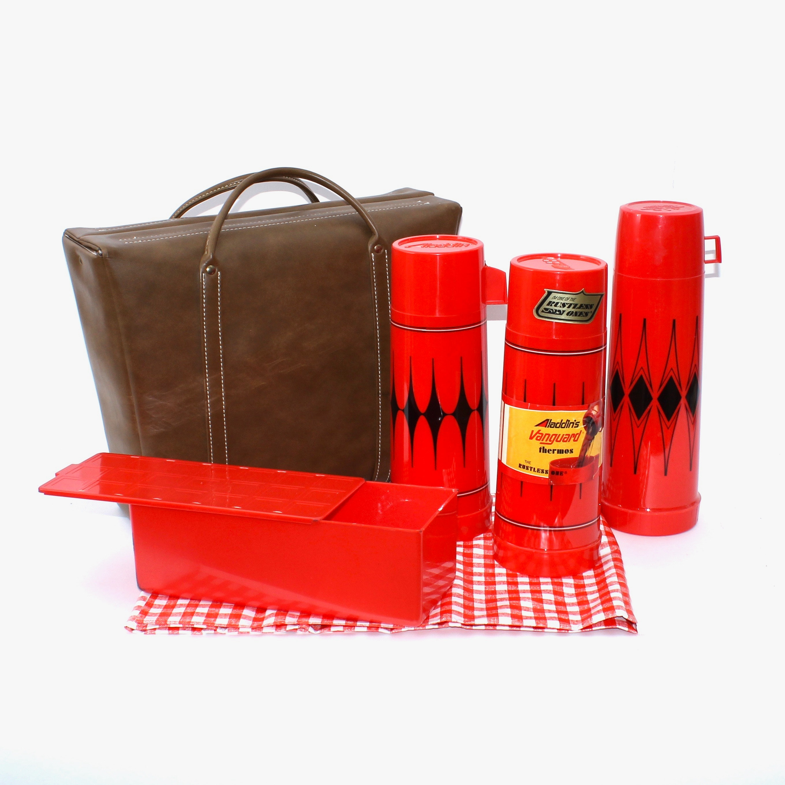 Vintage Aladdin's Vanguard Picnic and Thermos Set