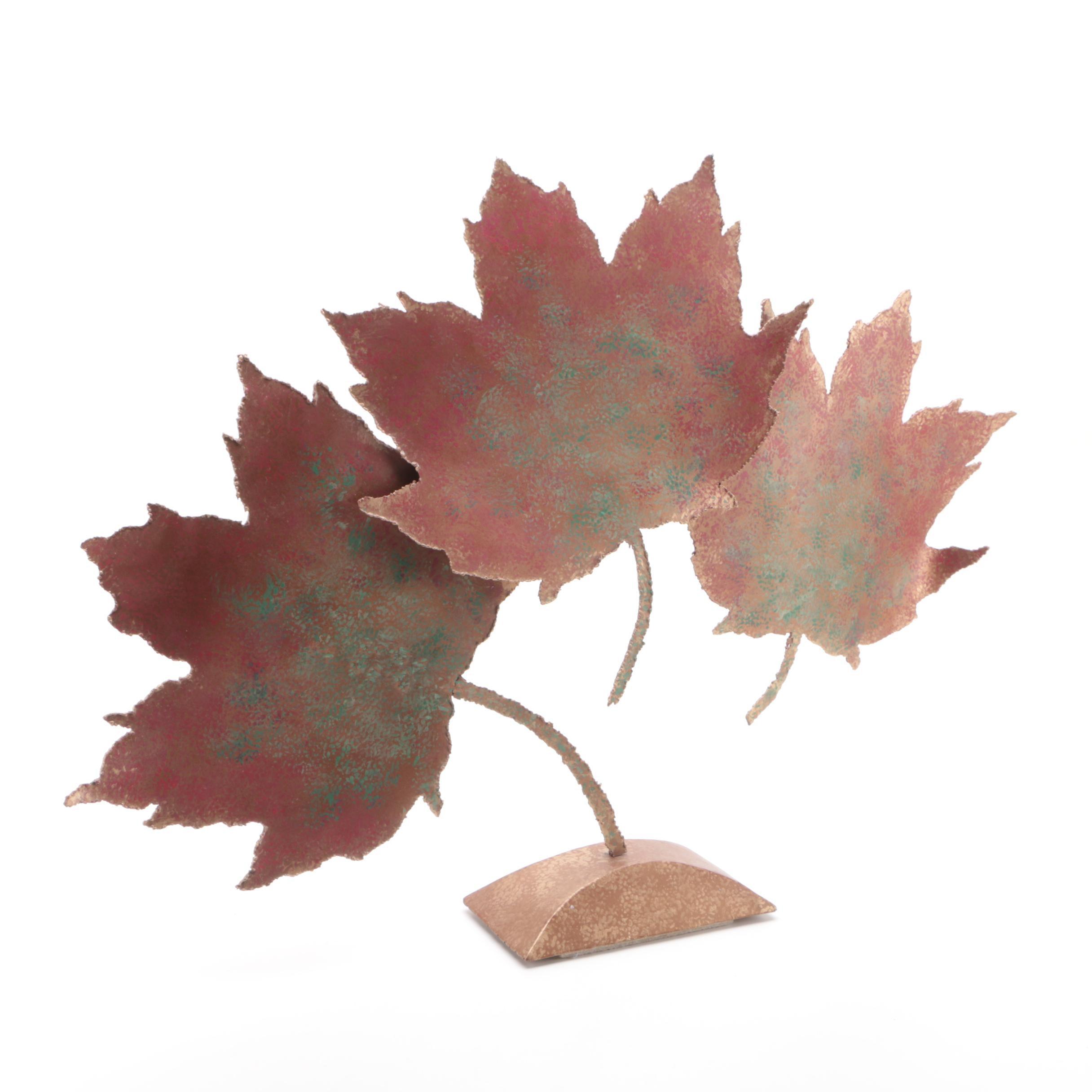 Metal Maple Leaf Sculpture