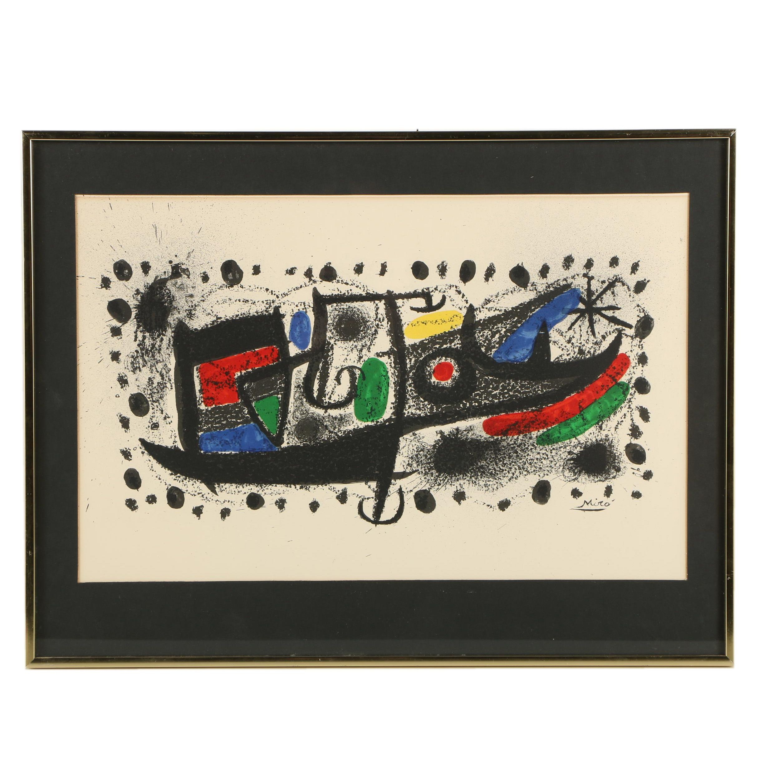 Joan Miro Open Edition Color Lithograph on Paper