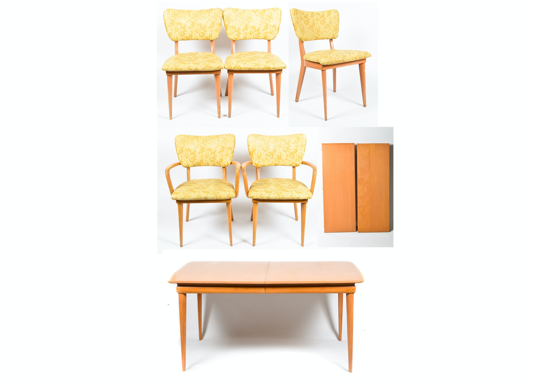 Mid Century Modern Heywood-Wakefield Dining Table and Five Chairs