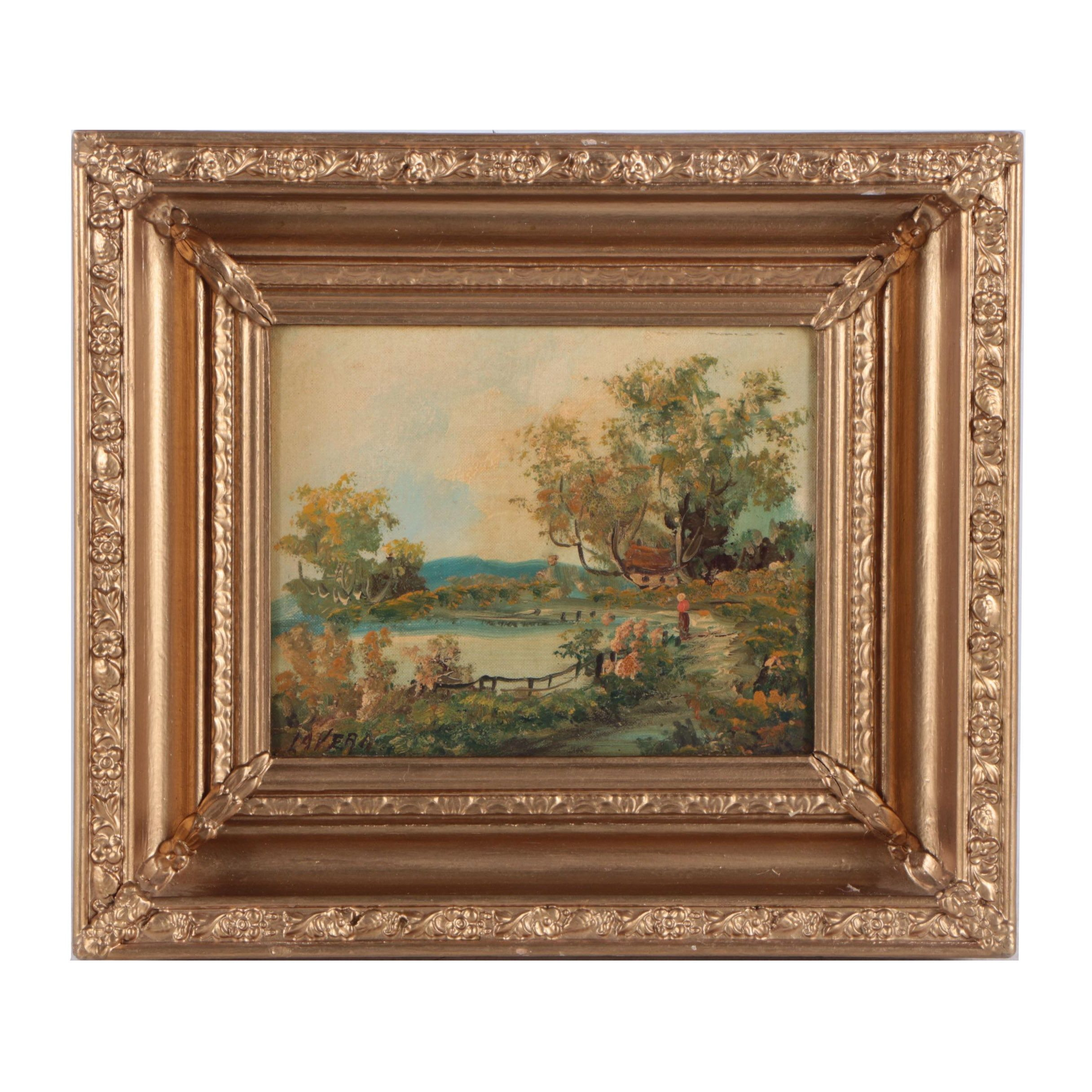 LaVera Oil Painting on Canvas Board Landscape