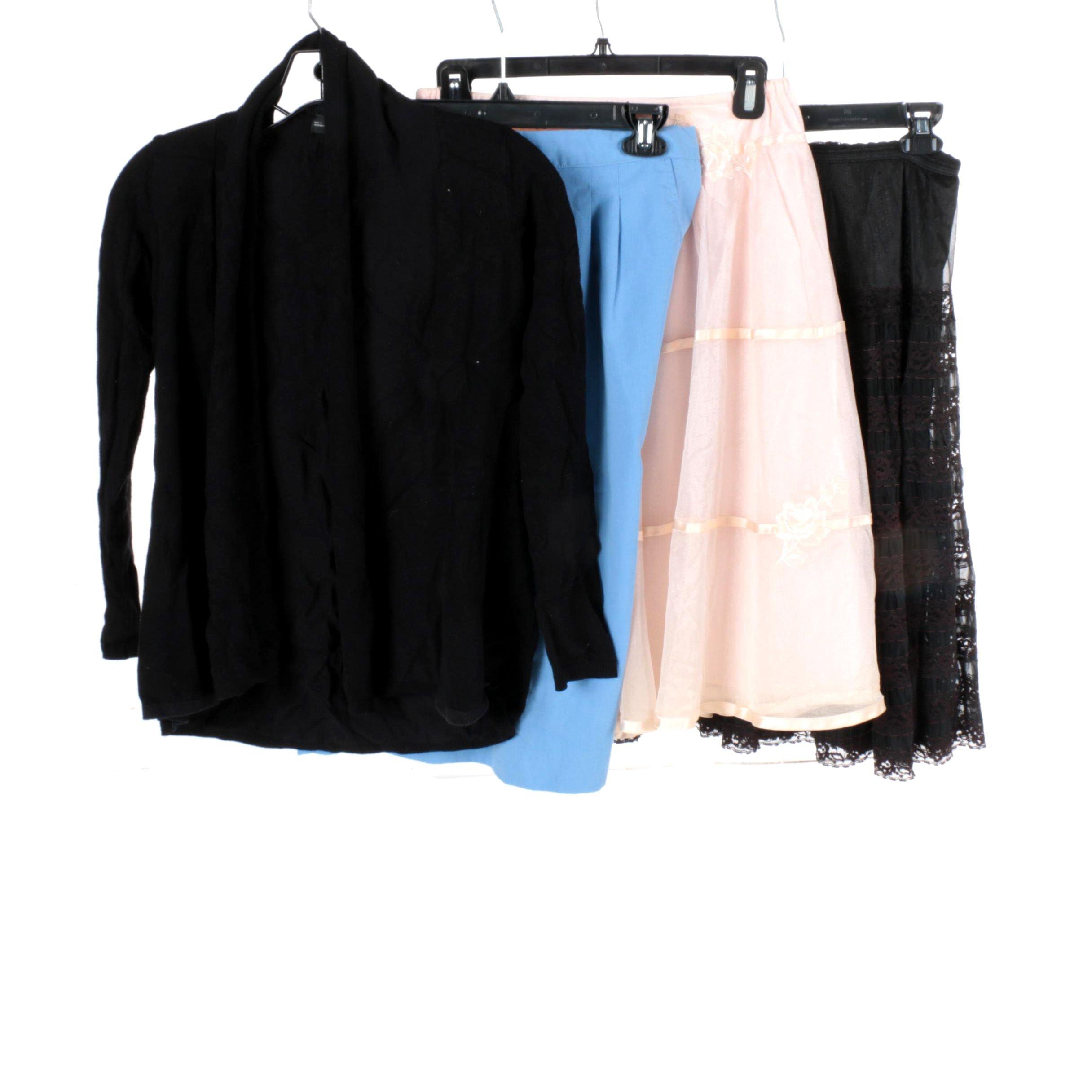 Women's Skirts and Zara Cardigan