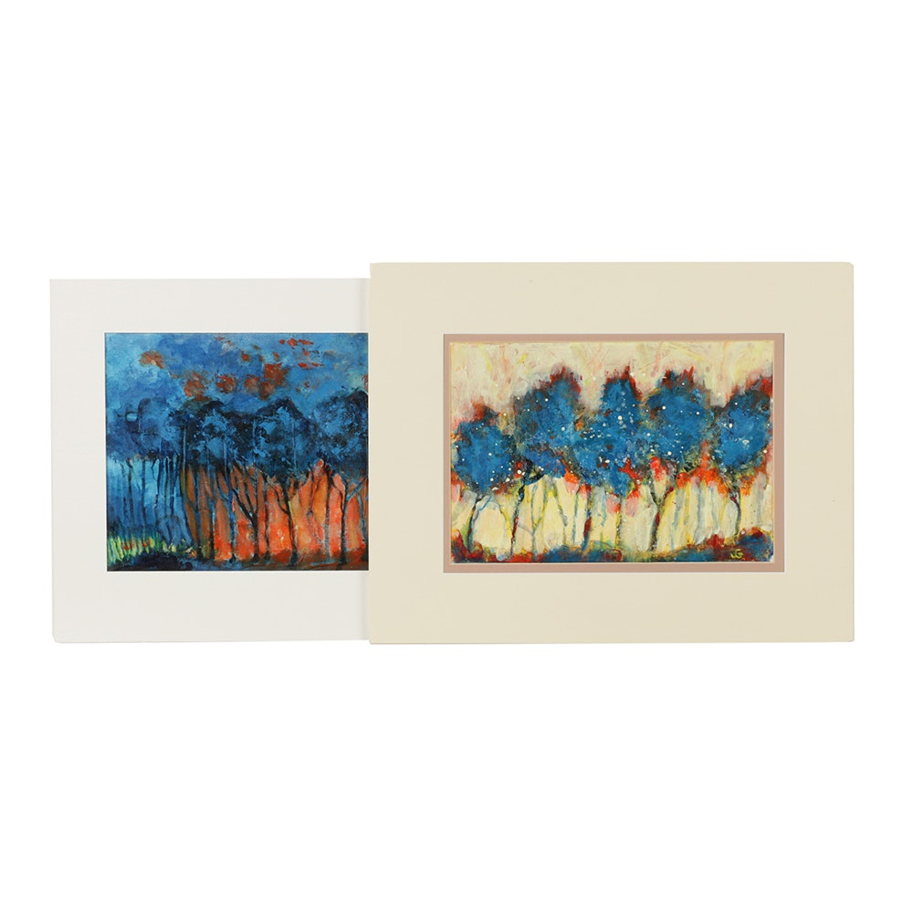Joyce Goodman Acrylic Paintings on Canvas of Trees