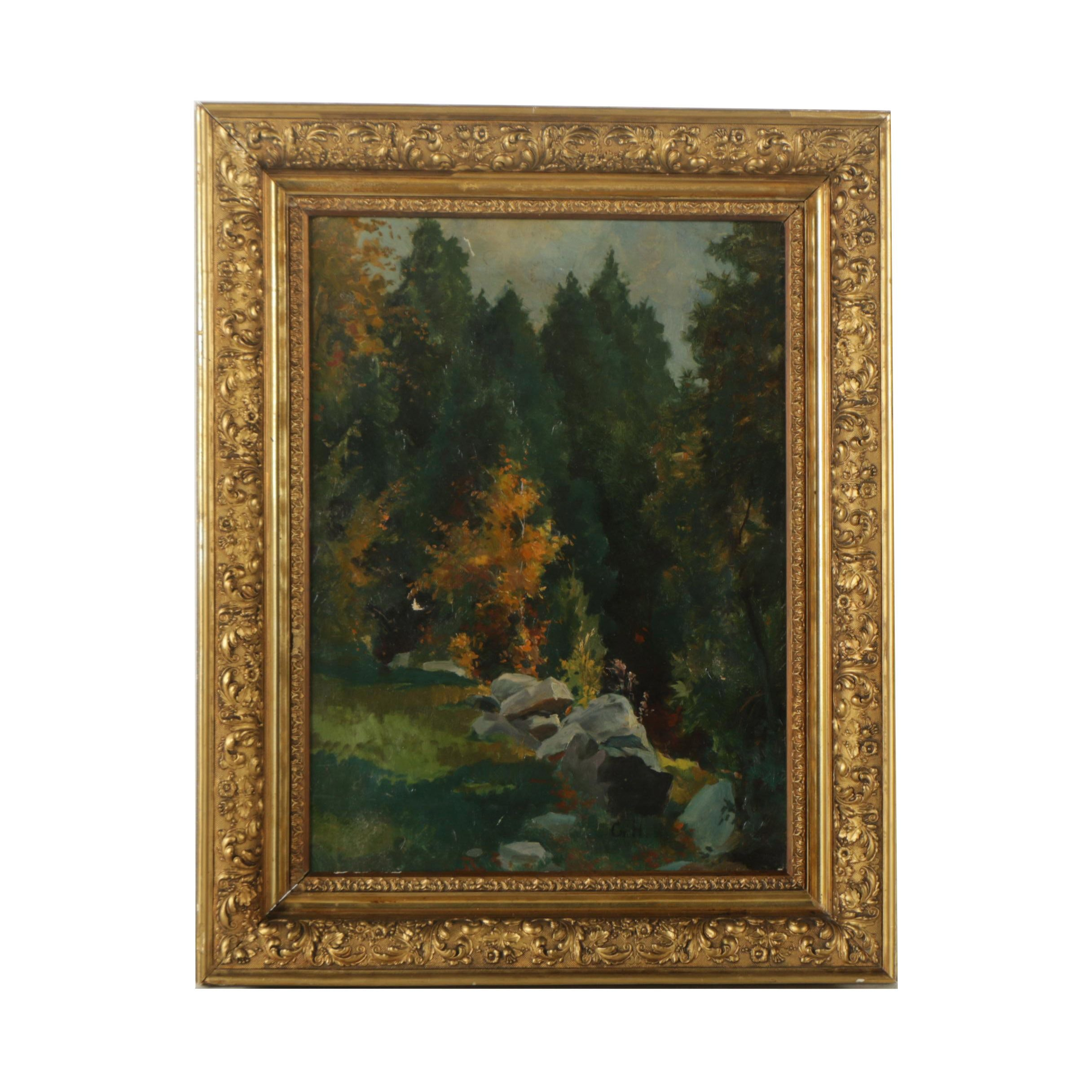 George Howe Oil on Canvas Painting of a Landscape