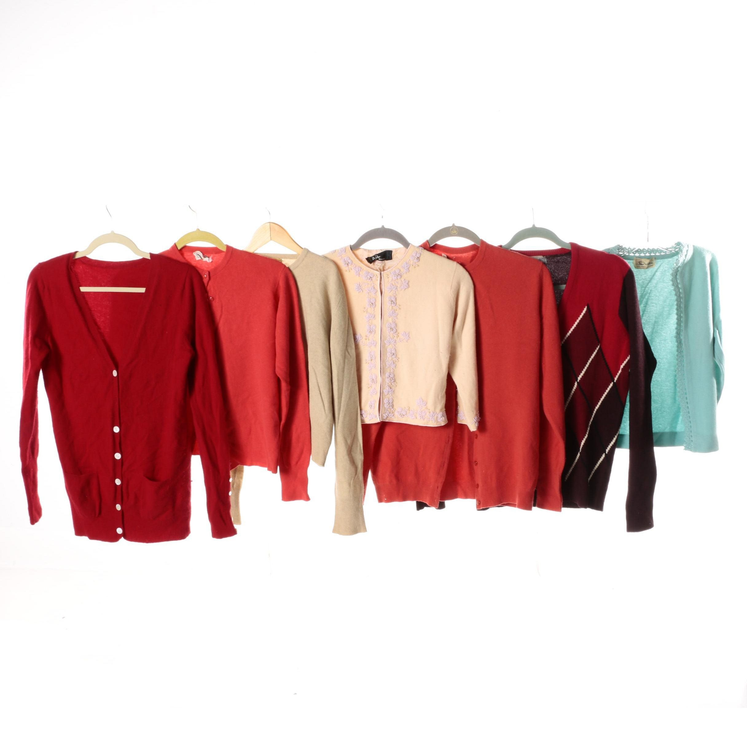 Women's Vintage Wool Sweaters Including Connaught