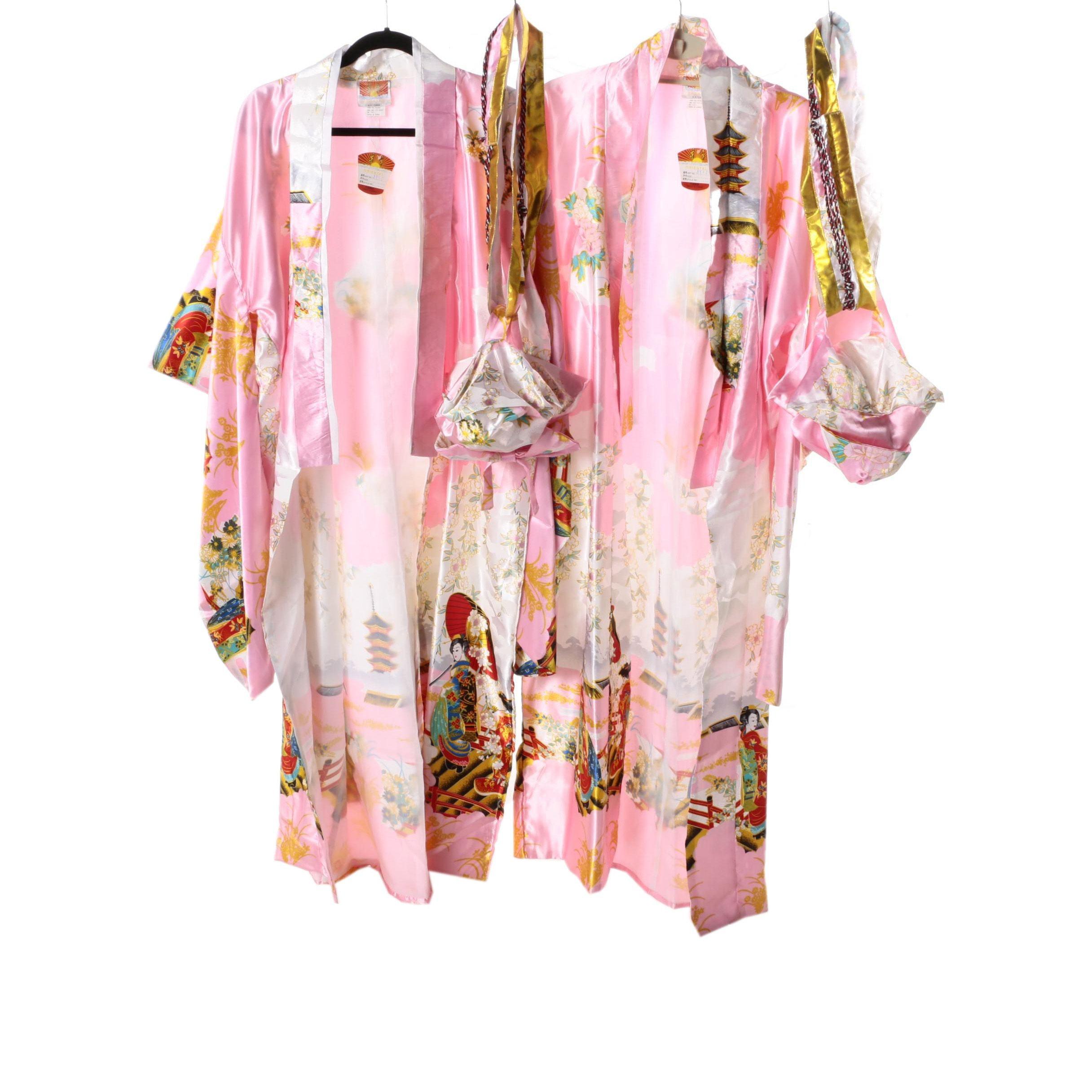 Women's Kimono Style Robes and Sashes