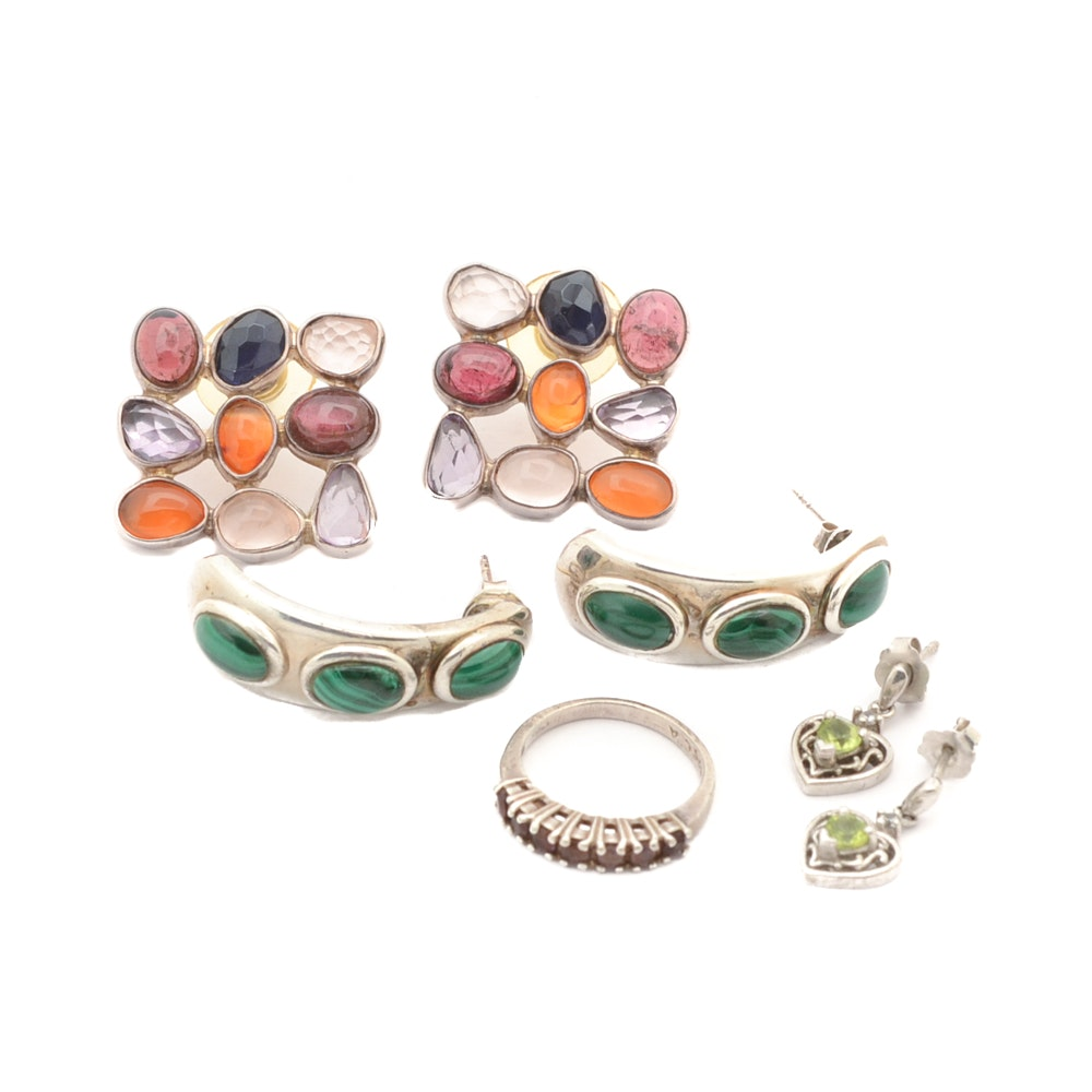 Sterling Silver and Gemstone Jewelry Selection