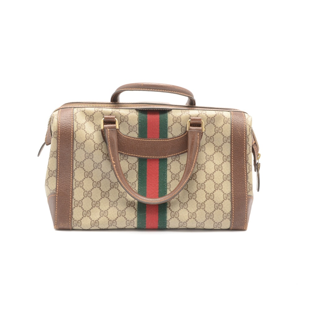 Vintage Gucci Supreme Monogram Handbag