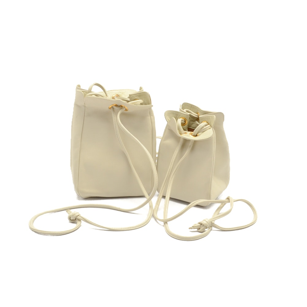 Asprey London Leather Bucket Bags