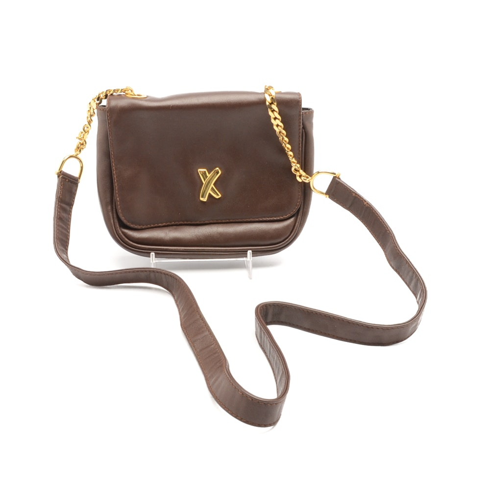 Vintage Paloma Picasso Leather Shoulder Bag