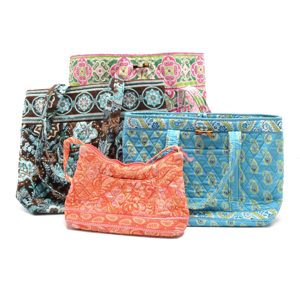 Collection of Vera Bradley Quilted Handbags