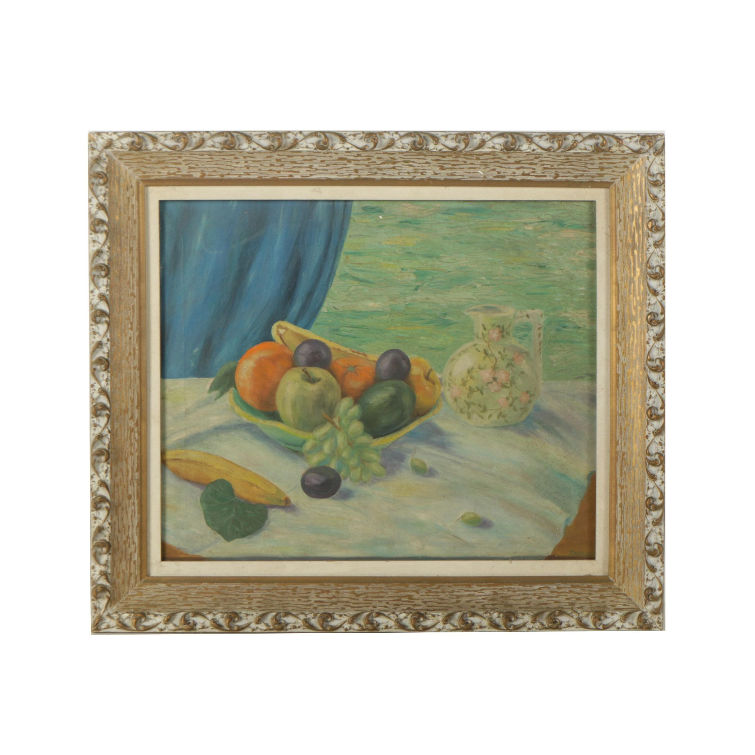 Farrand Oil Painting on Canvas of Still Life