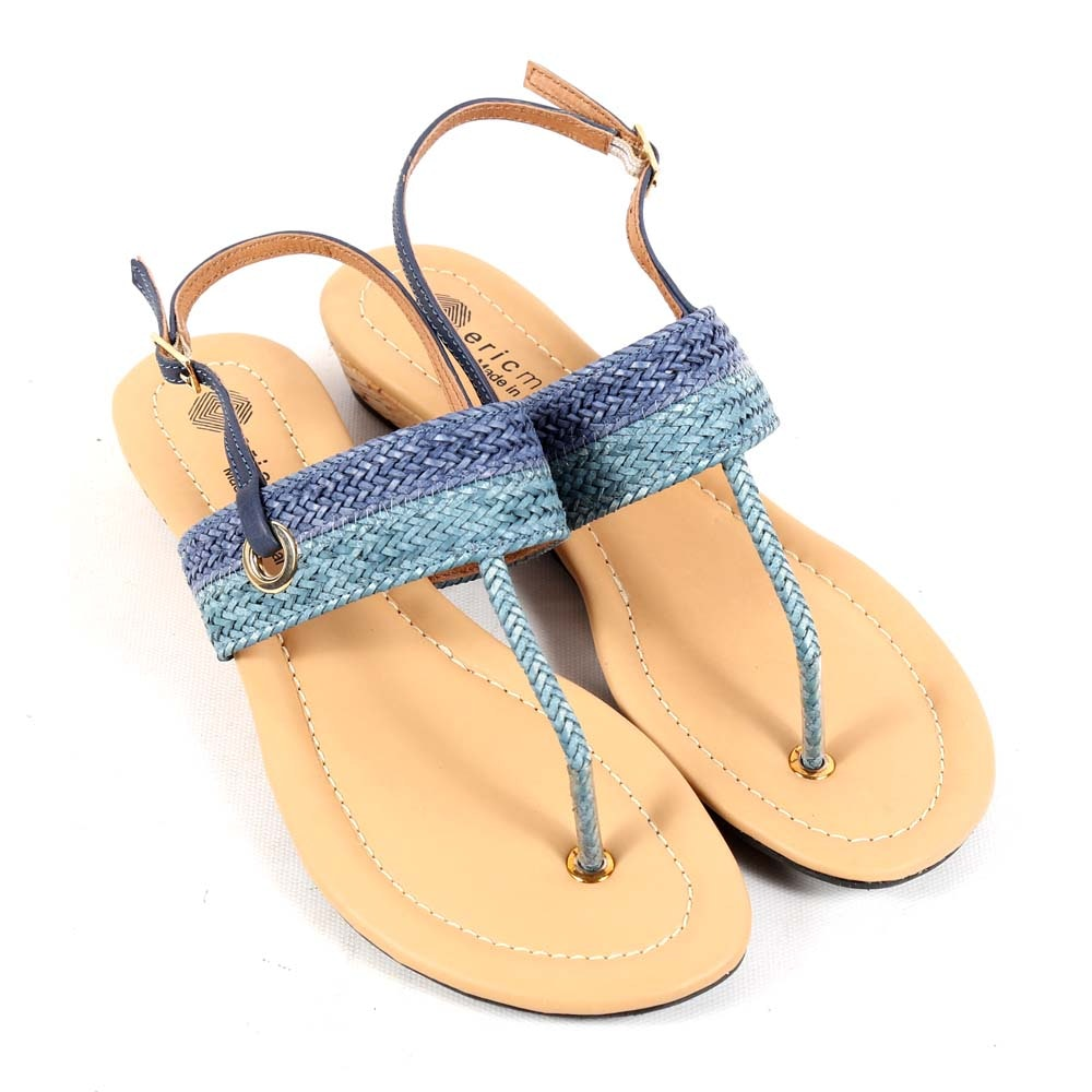 Eric Michael Darcy Blue Sandals