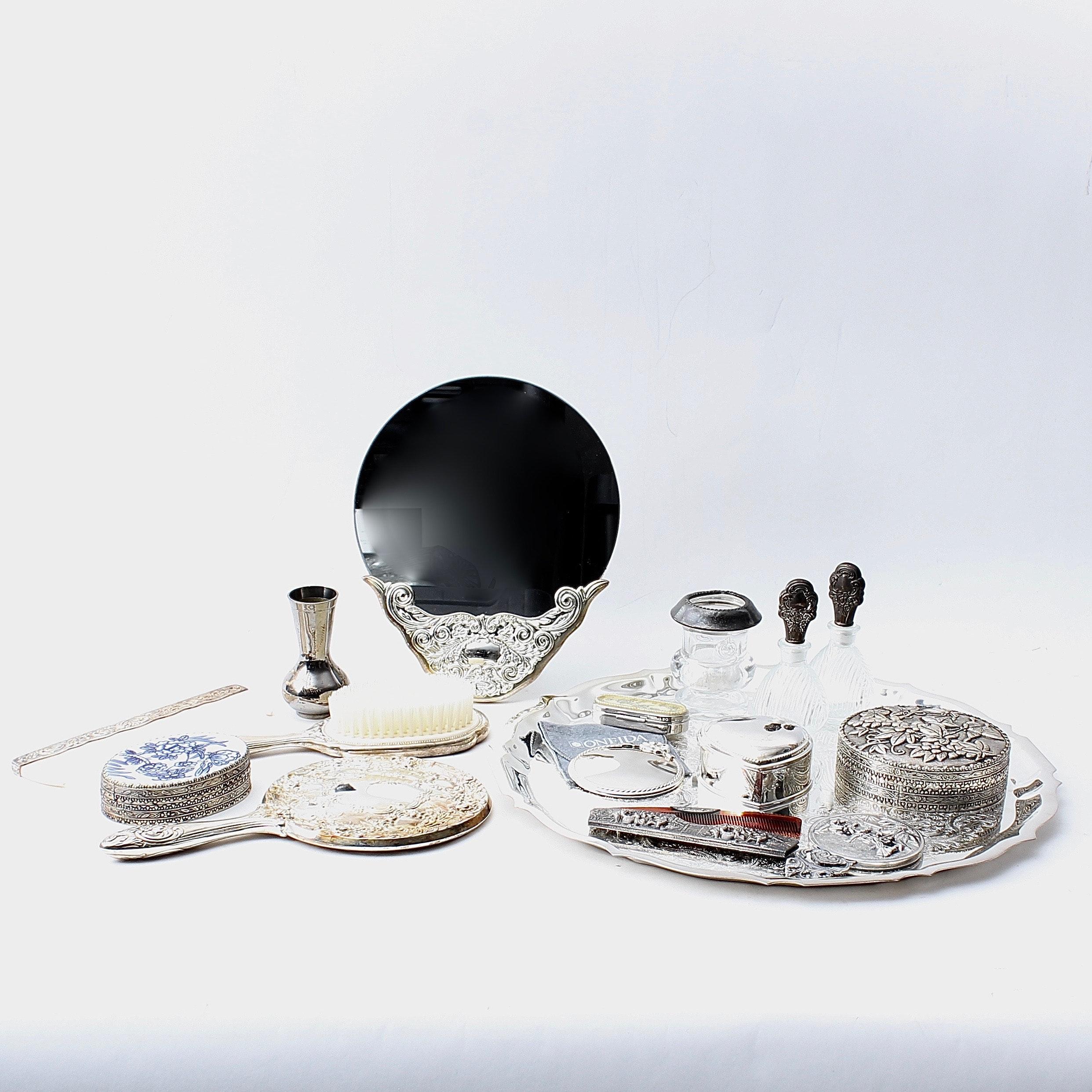 Silver Tone Vanity Accessories