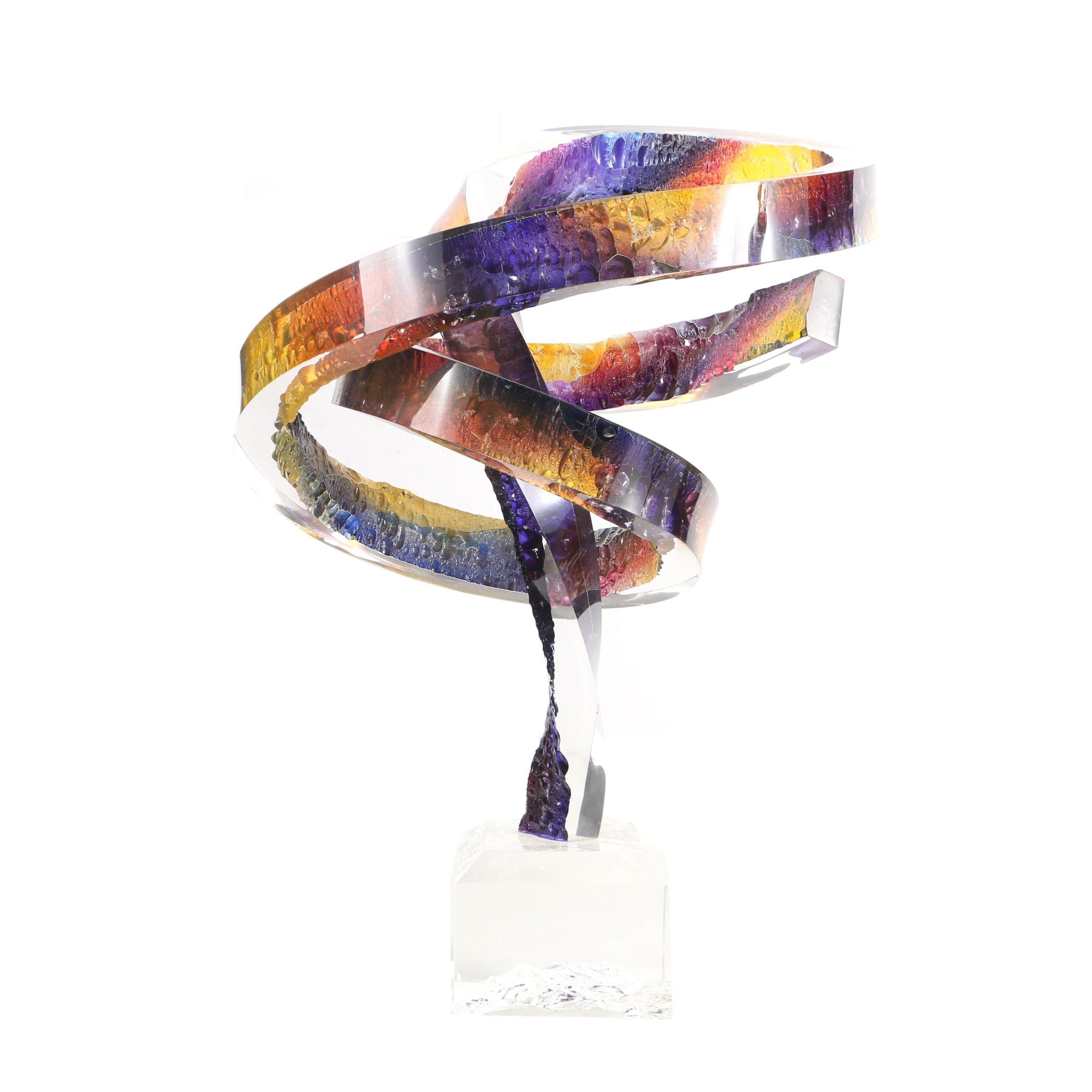 "R. Garrett Lucite Abstract Sculpture ""Whirlwind"""